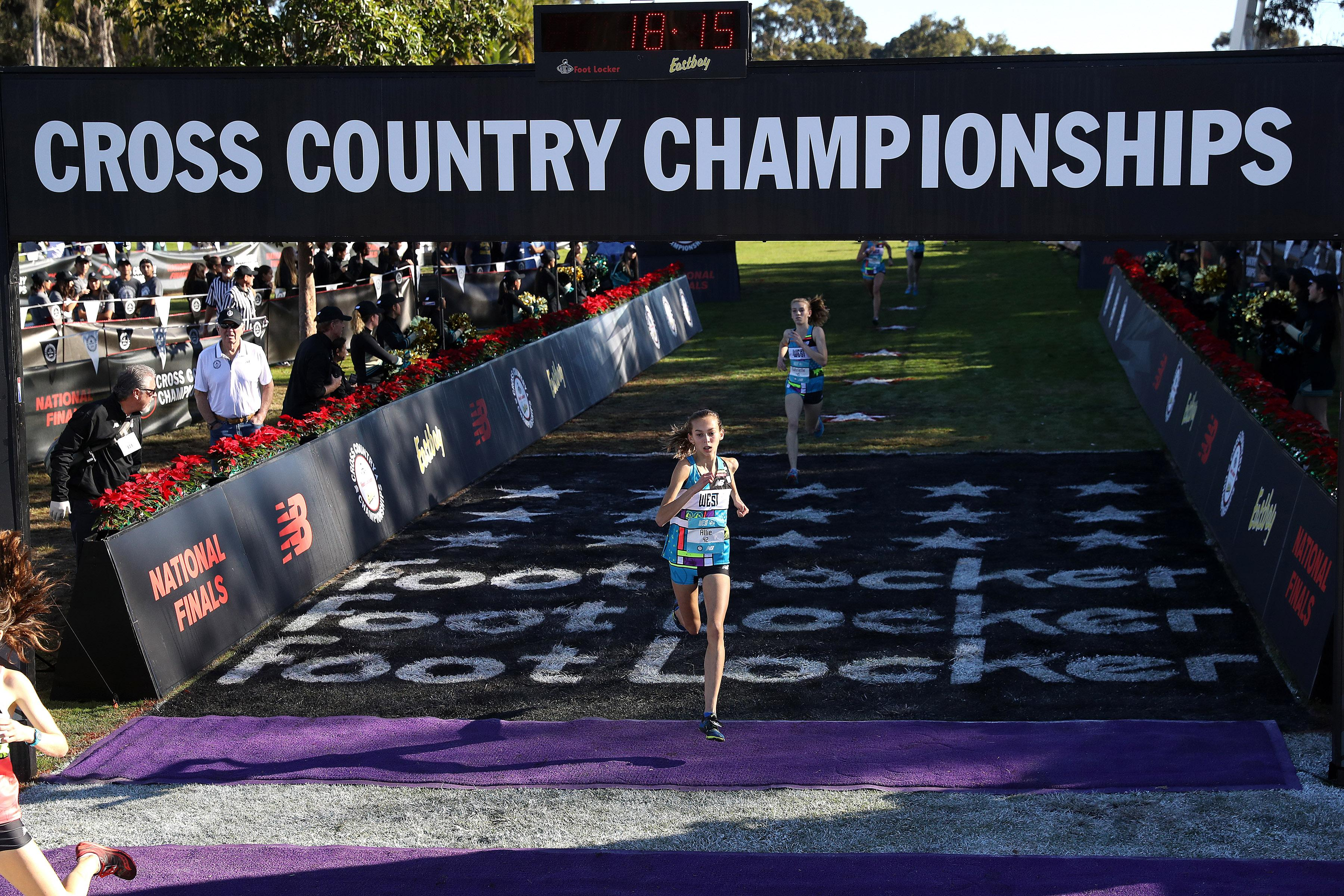 d1ce415dd North Central s Allie Janke crosses the finish line at the 2018 Foot Locker  Cross Country Nationals