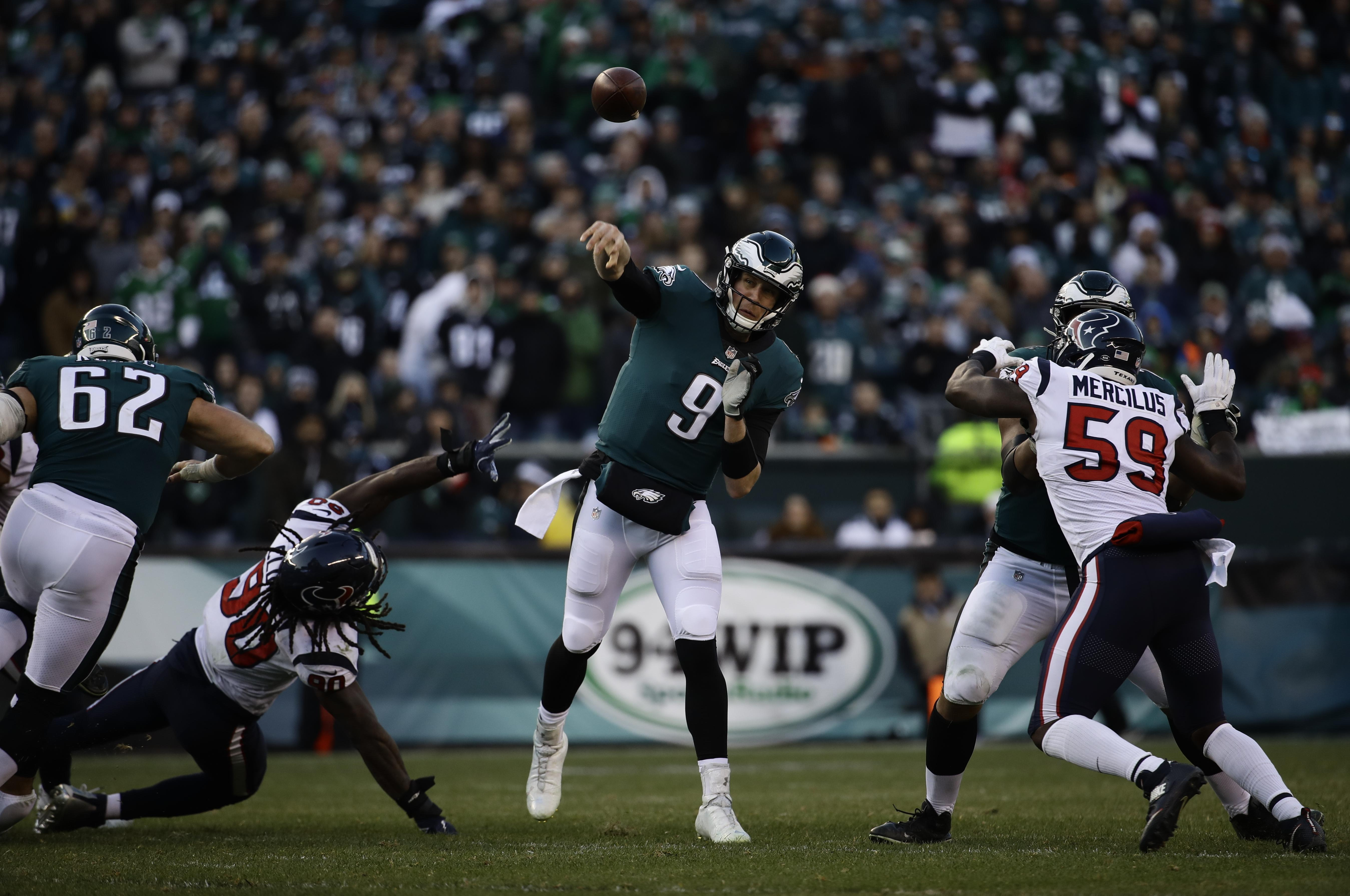 f82b07b7d Philadelphia Eagles  Nick Foles in action during the second half of an NFL  football game
