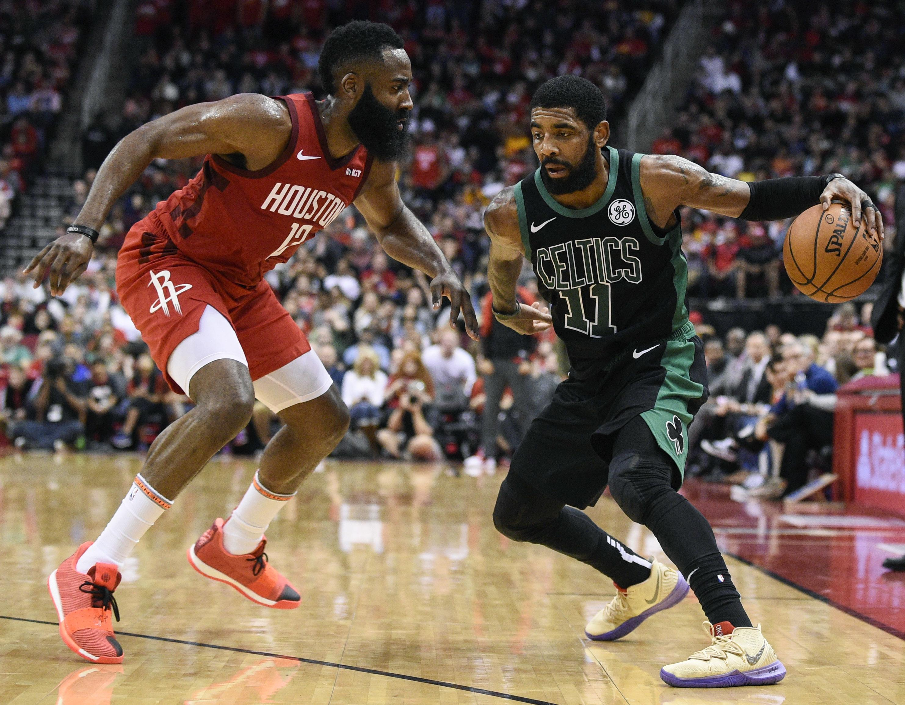 f2b295a73742 NBA roundup  James Harden scores 45 in Rockets  win over Celtics ...