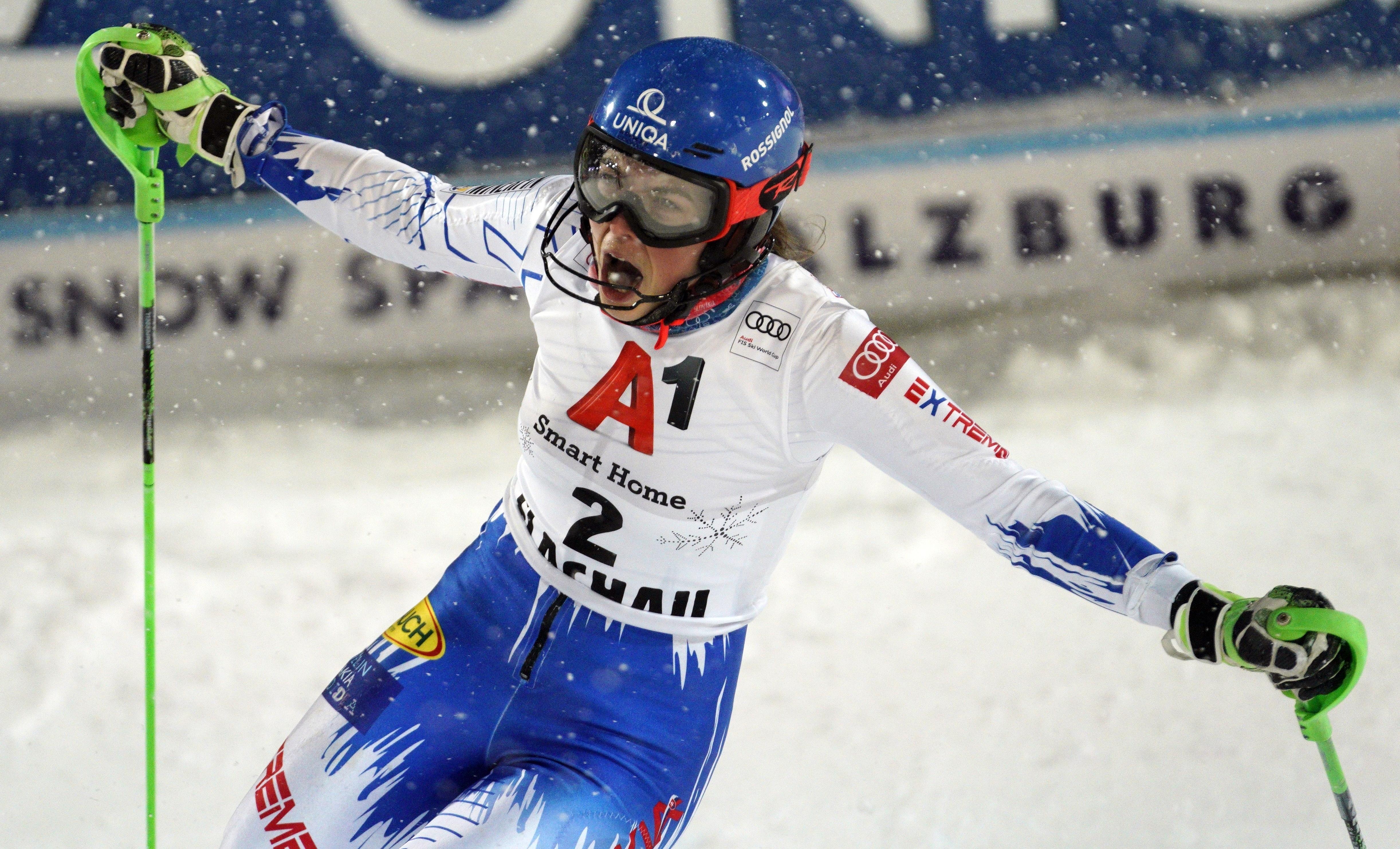 Petra Vlhova wins slalom to deny Mikaela Shiffrin 8th ...