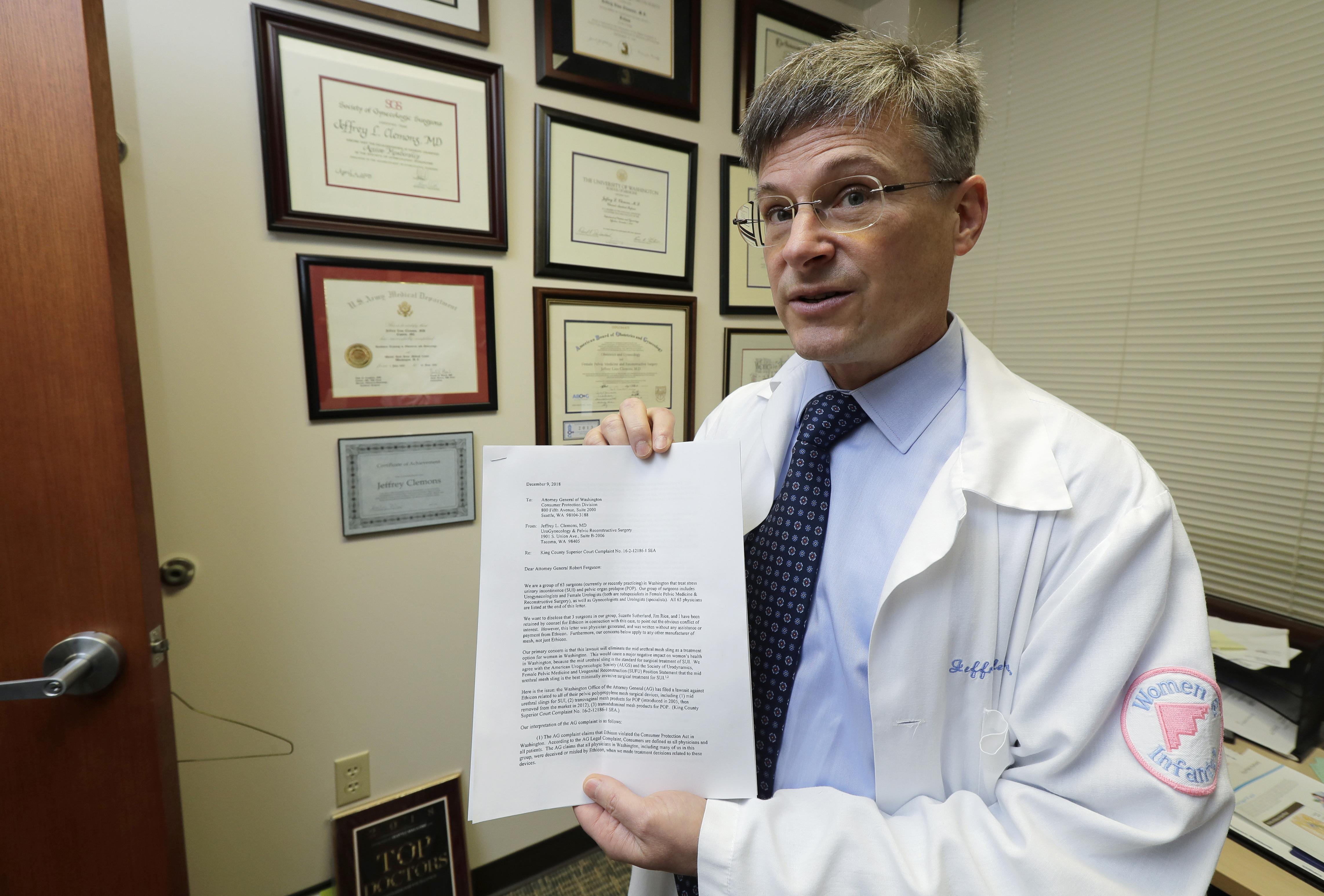 Physicians criticize state lawsuits over pelvic mesh | The Spokesman
