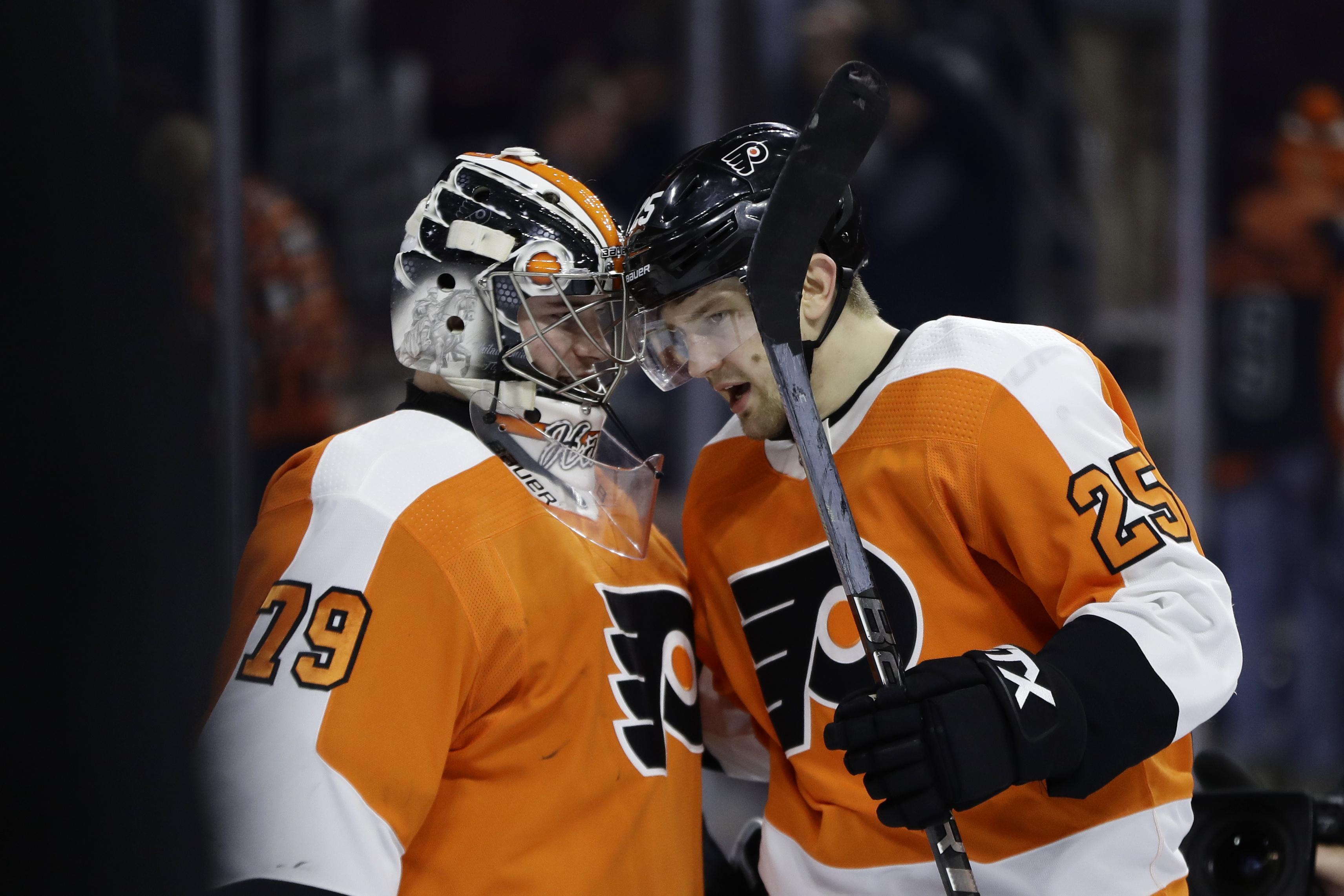 new arrival 4300e 8bec1 NHL roundup: James van Riemsdyk's hat trick earns rare win ...