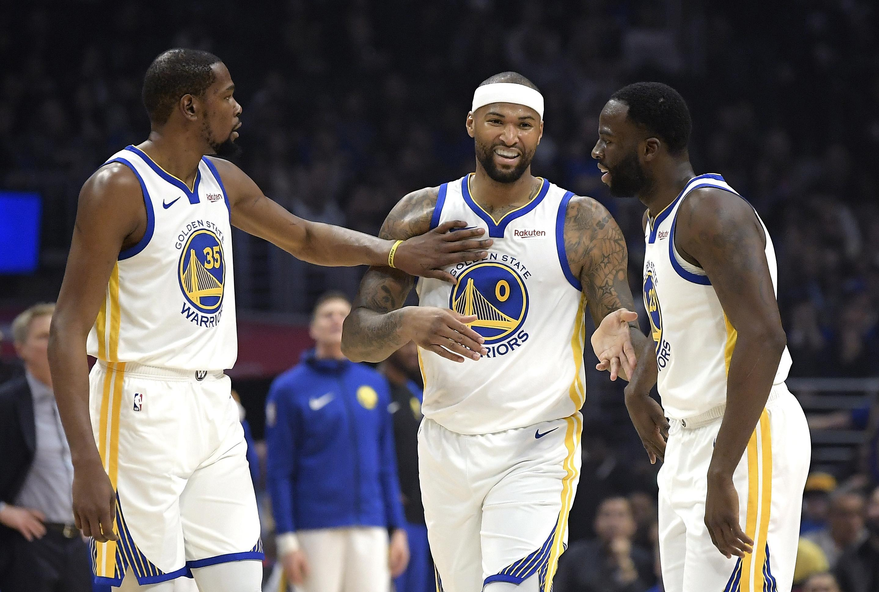 2fcd7ec04 NBA roundup  DeMarcus Cousins fouls out of Warriors debut in win ...