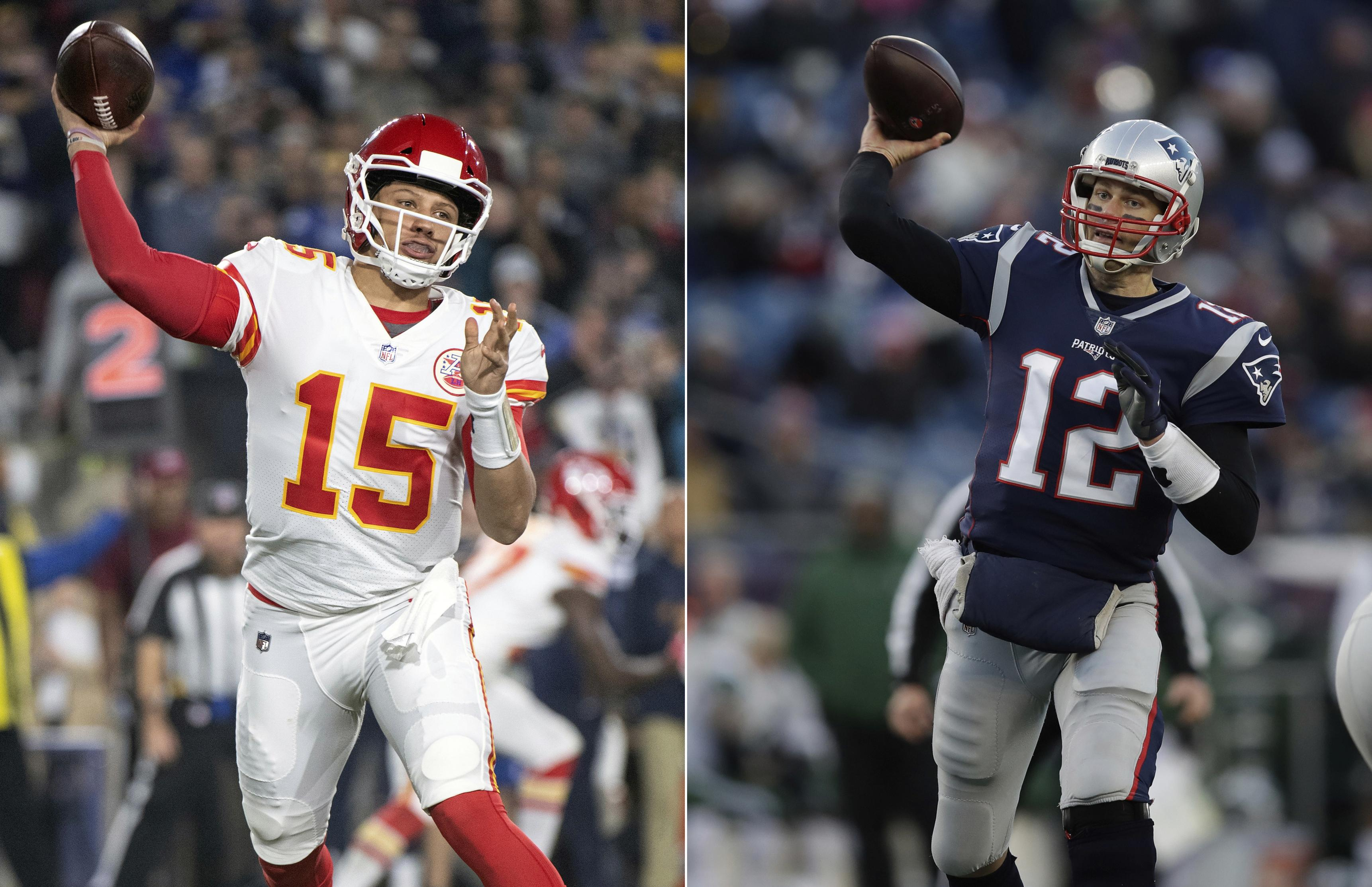 cheaper 669f8 81ab7 At left, Kansas City Chiefs quarterback Patrick Mahomes throws a pass  against the Los Angeles