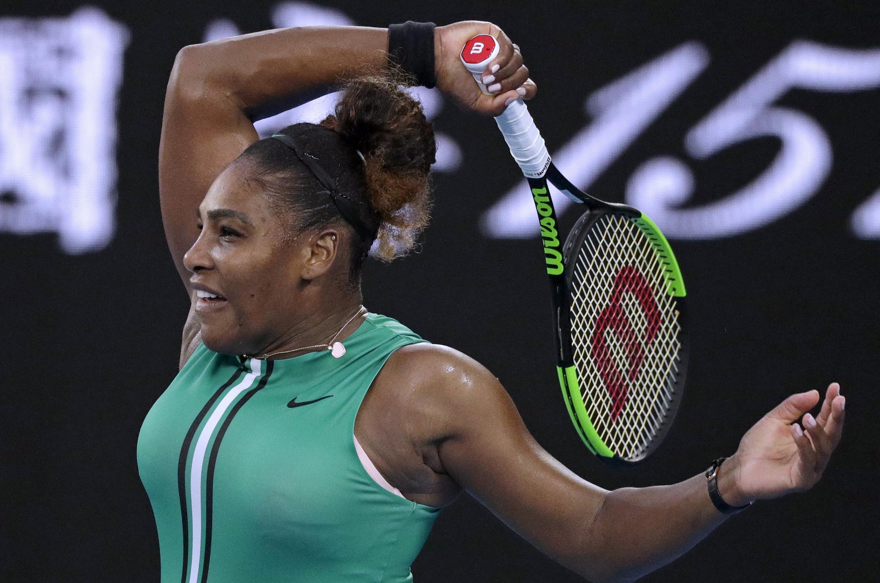 Serena Williams ousts No. 1 Simona Halep at Australian ...