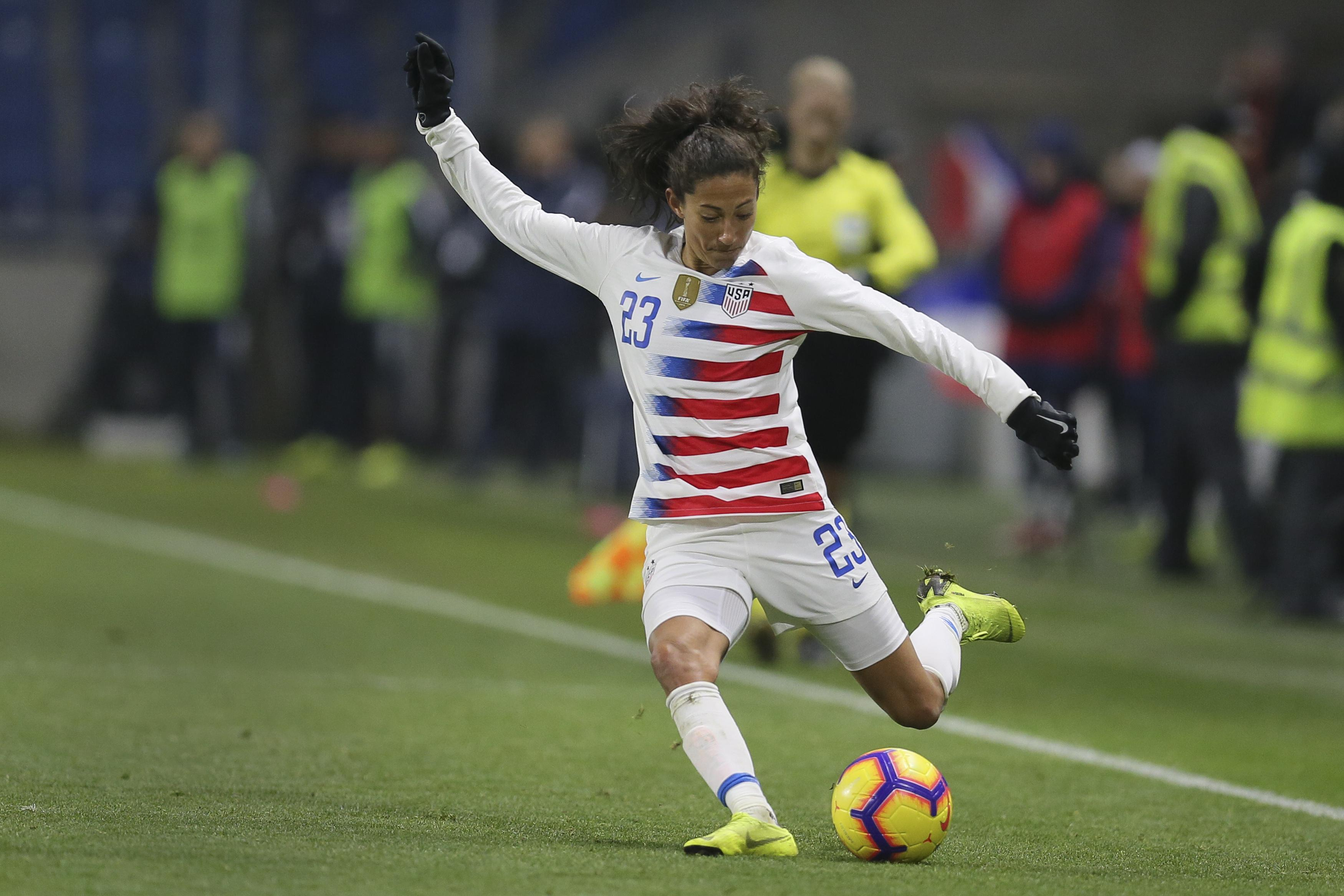 Christen Press scores and U S  women down Spain 1-0   The
