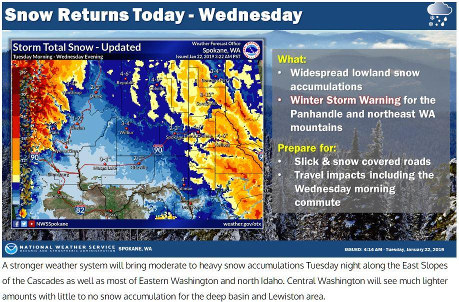 Snow Storm Weather Map.National Weather Service Adjusts Snow Forecast Heading Into Tuesday