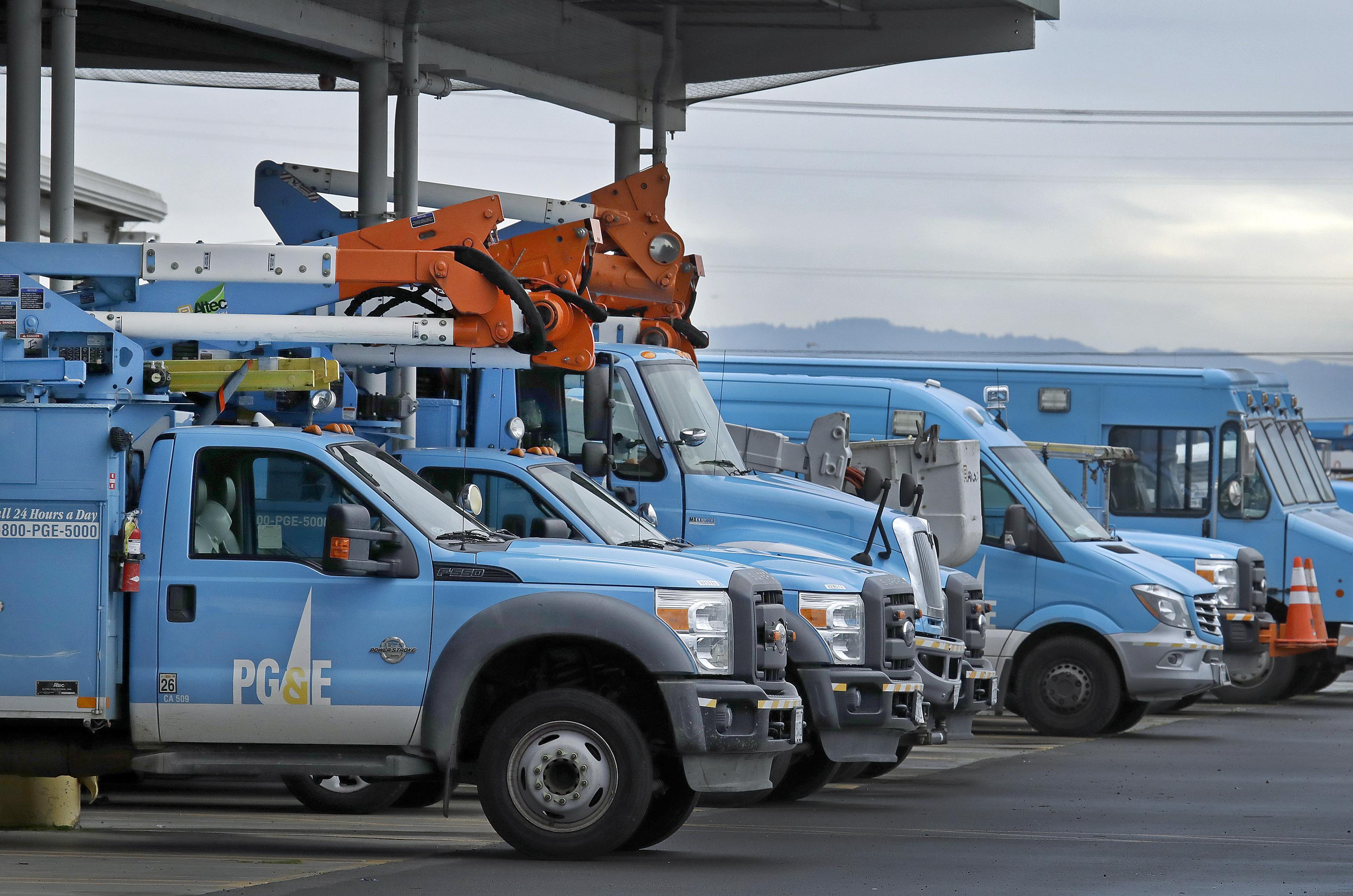 Pacific Gas Electric Vehicles Are Parked Jan 14 2019 At The Pg E