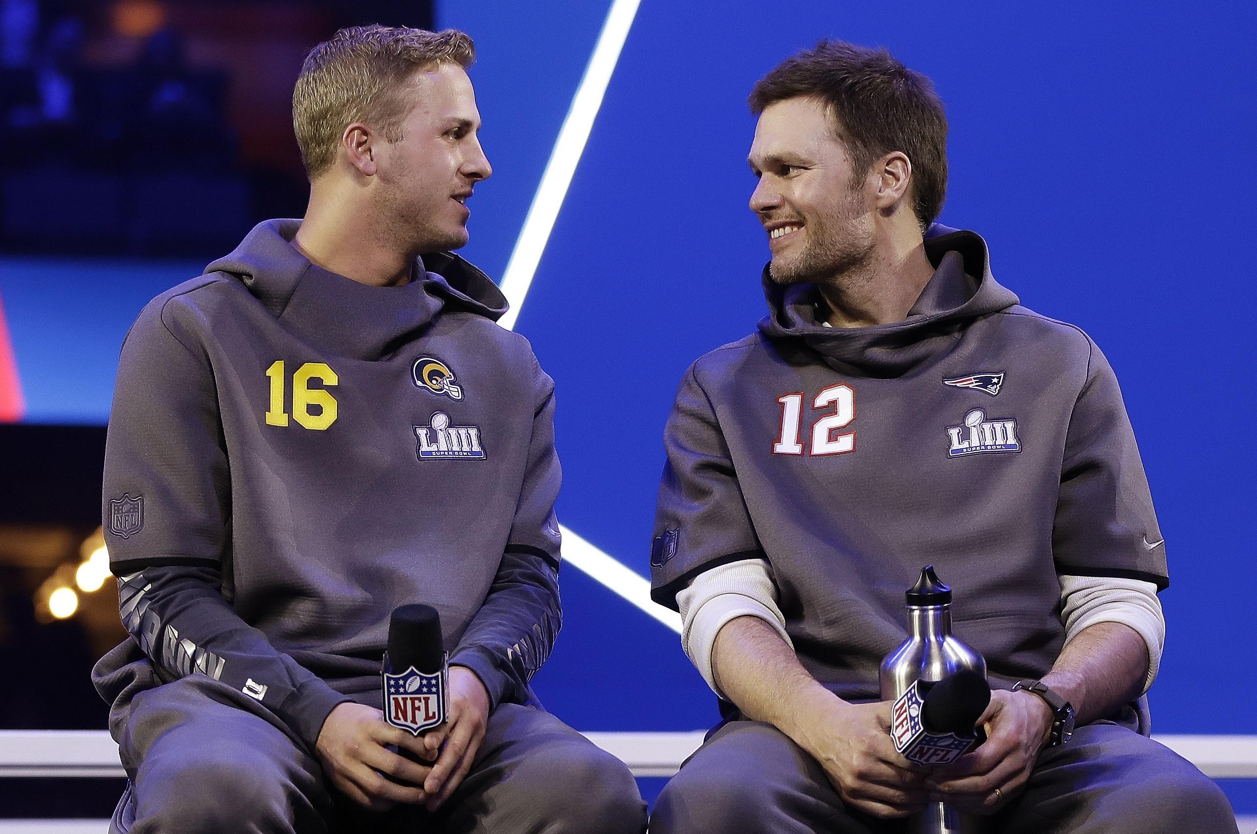 Tom Brady, Jared Goff have massive age gap, but same Super Bowl