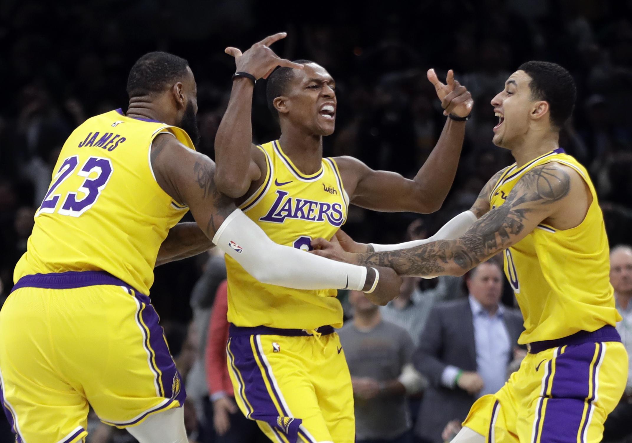 5443c93a494 NBA roundup  Lakers edge Celtics 129-128 on Rajon Rondo s jumper at ...