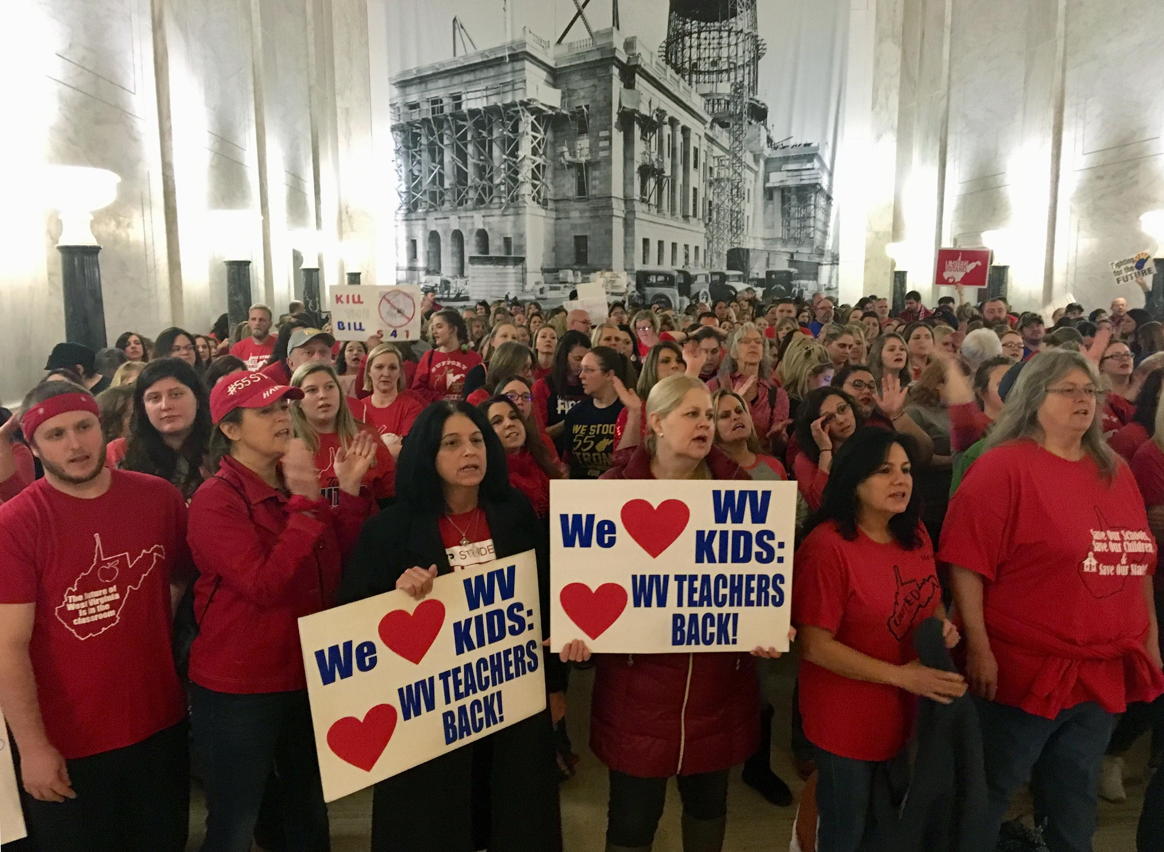 Strike 2: West Virginia teachers walk out again | The Spokesman-Review