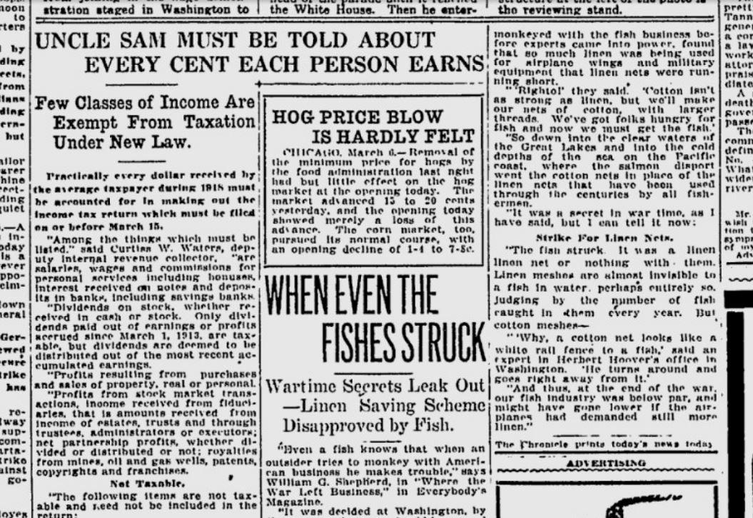 100 years ago in Spokane: IRS worker explains the income tax | The