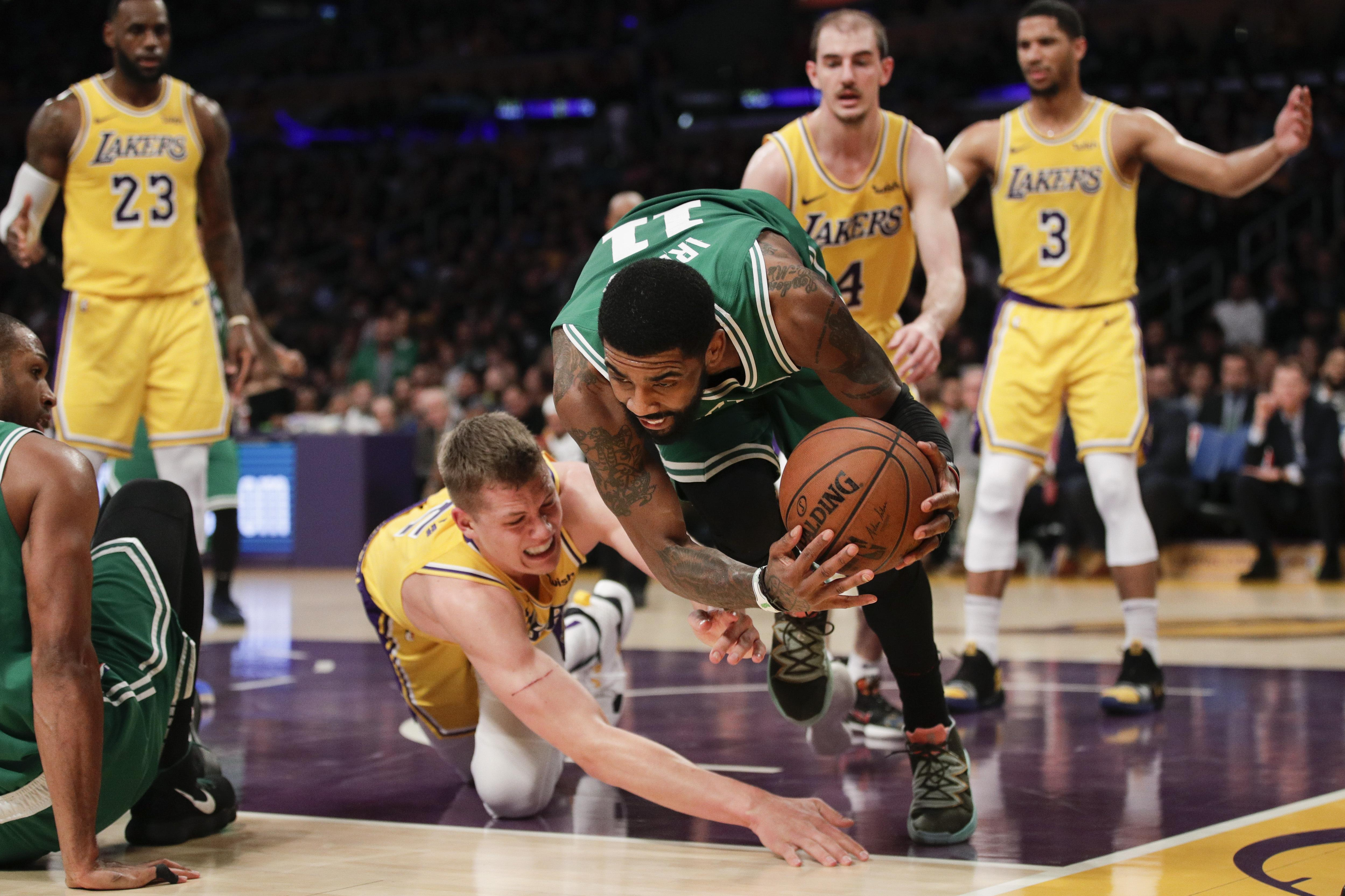 fcb1ea29d NBA roundup  Celtics beat short-handed Lakers 120-107