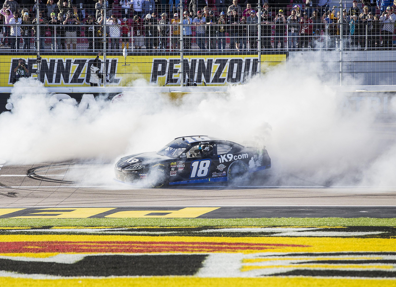 kyle busch dominates  win  xfinity race  ism raceway  spokesman review
