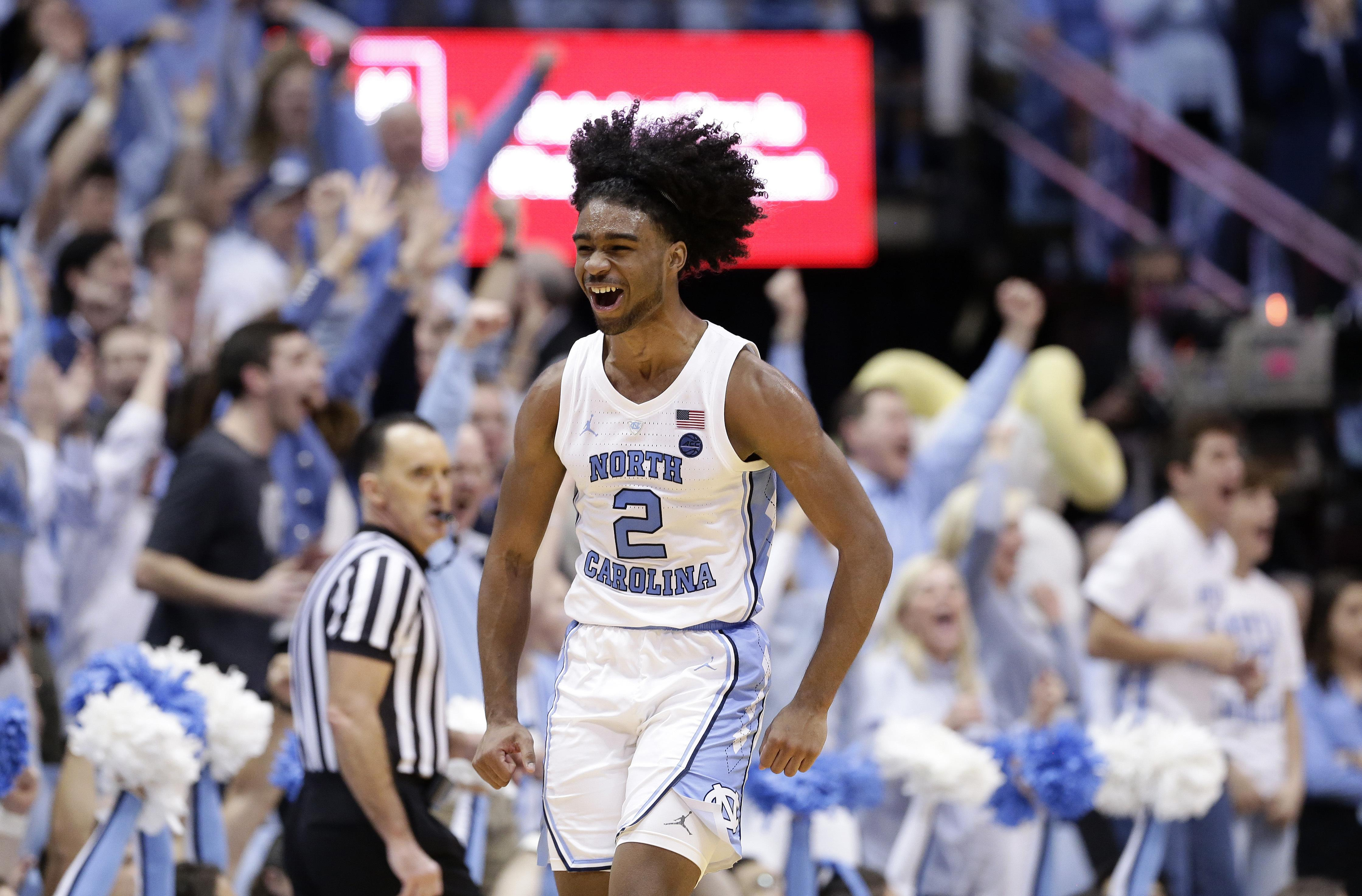 0c4e688632cc North Carolina s Coby White (2) reacts following a play against Duke during  the second