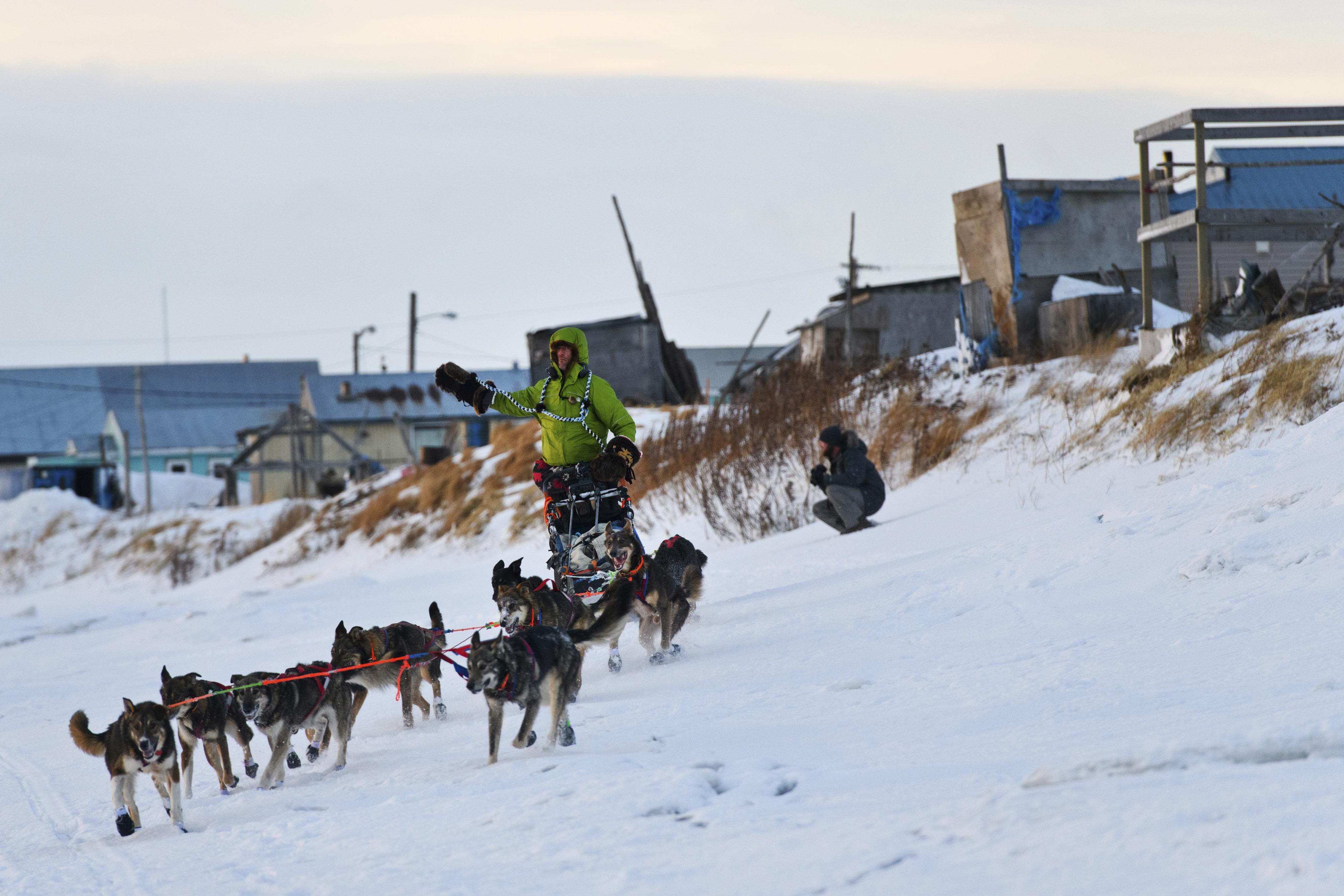 Watch Libby Riddles sled dog musher video