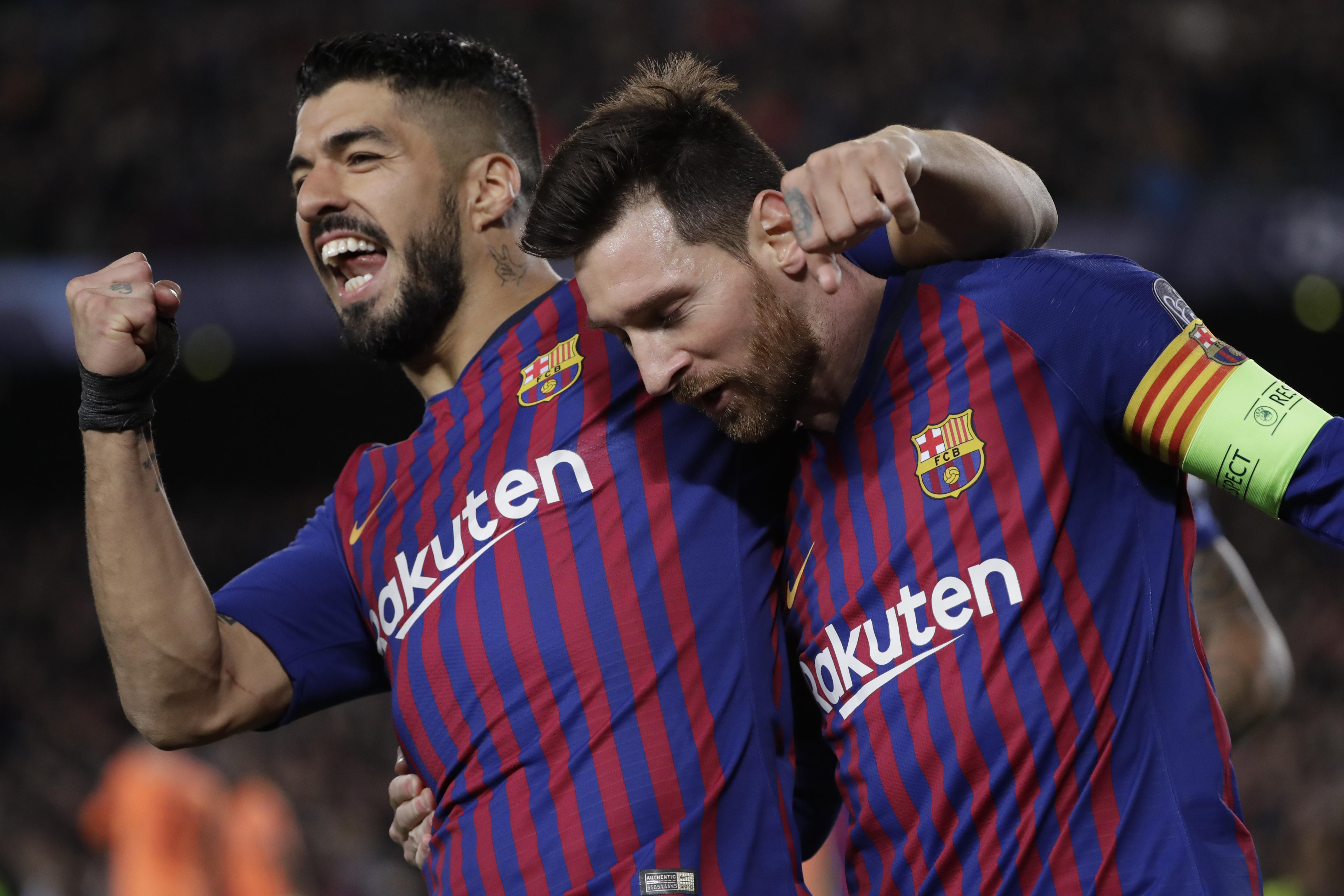 535aa7e12 Lionel Messi helps Barcelona beat Lyon 5-1 to reach CL quarters ...