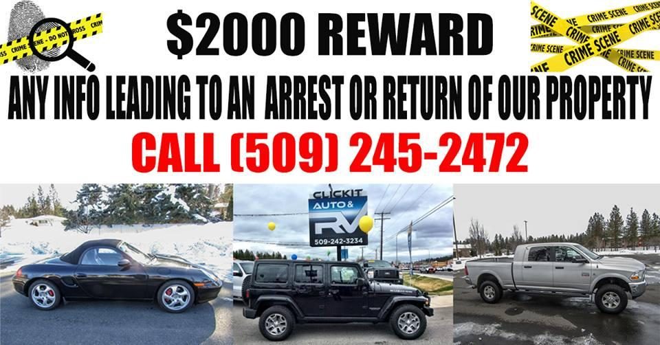 Car Dealerships Spokane Wa >> Spokane Car Dealership Offering 2 000 Reward For Tips On