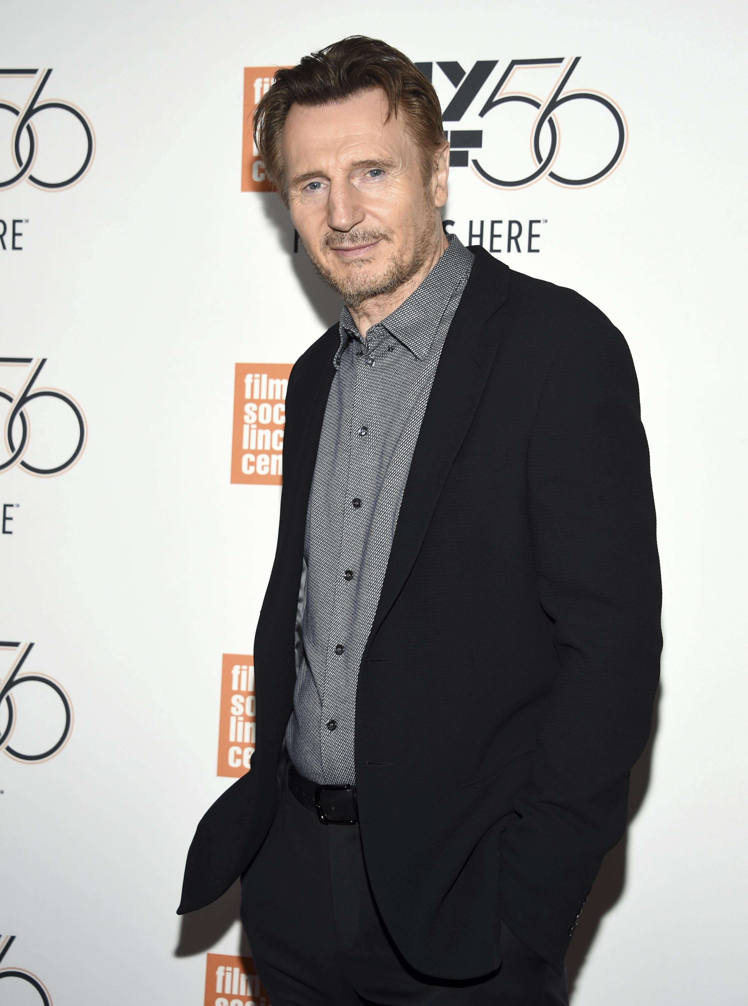 Actor Liam Neeson apologizes a...
