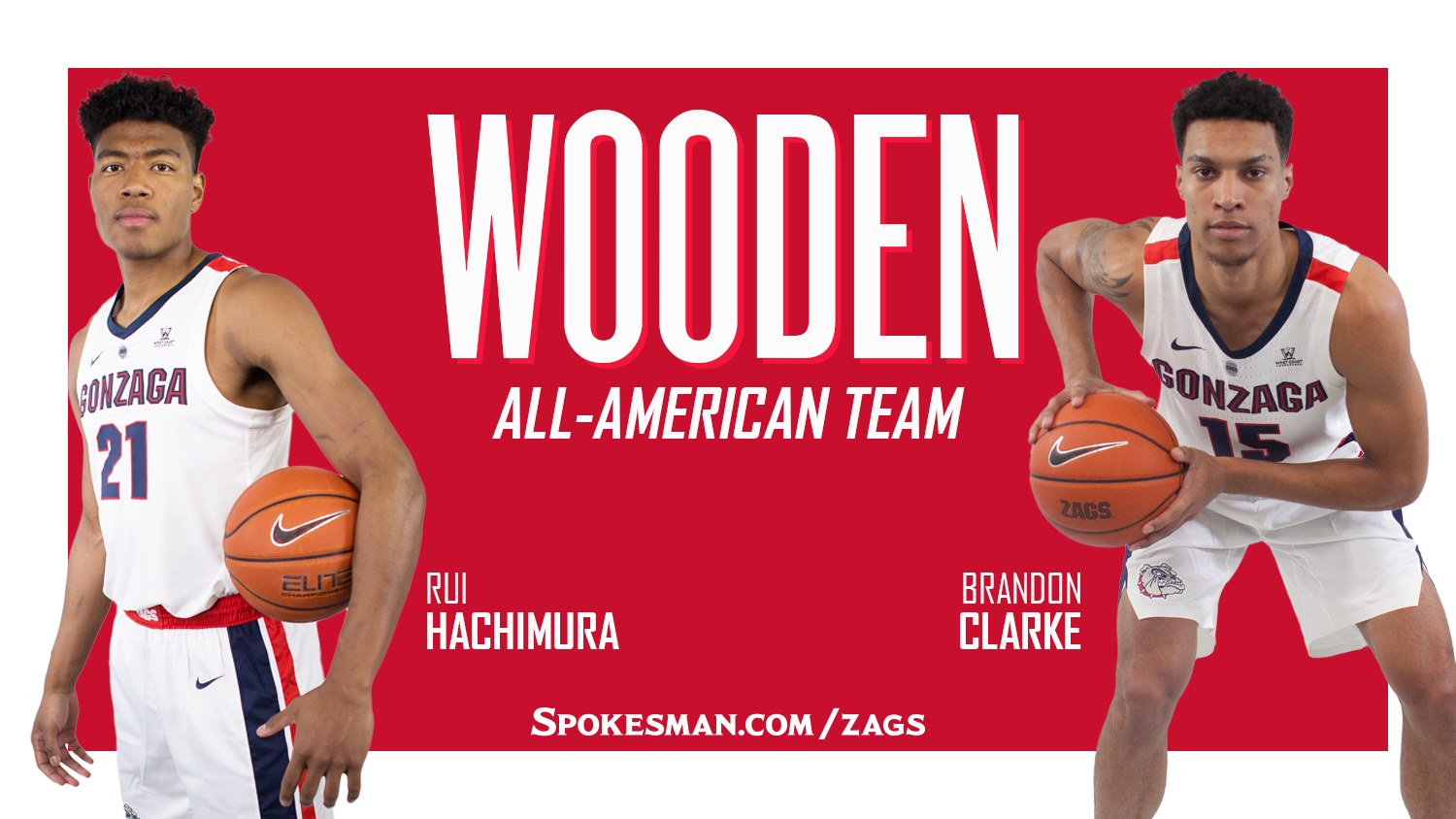 Gonzagas Rui Hachimura Brandon Clarke Named To Wooden Award All
