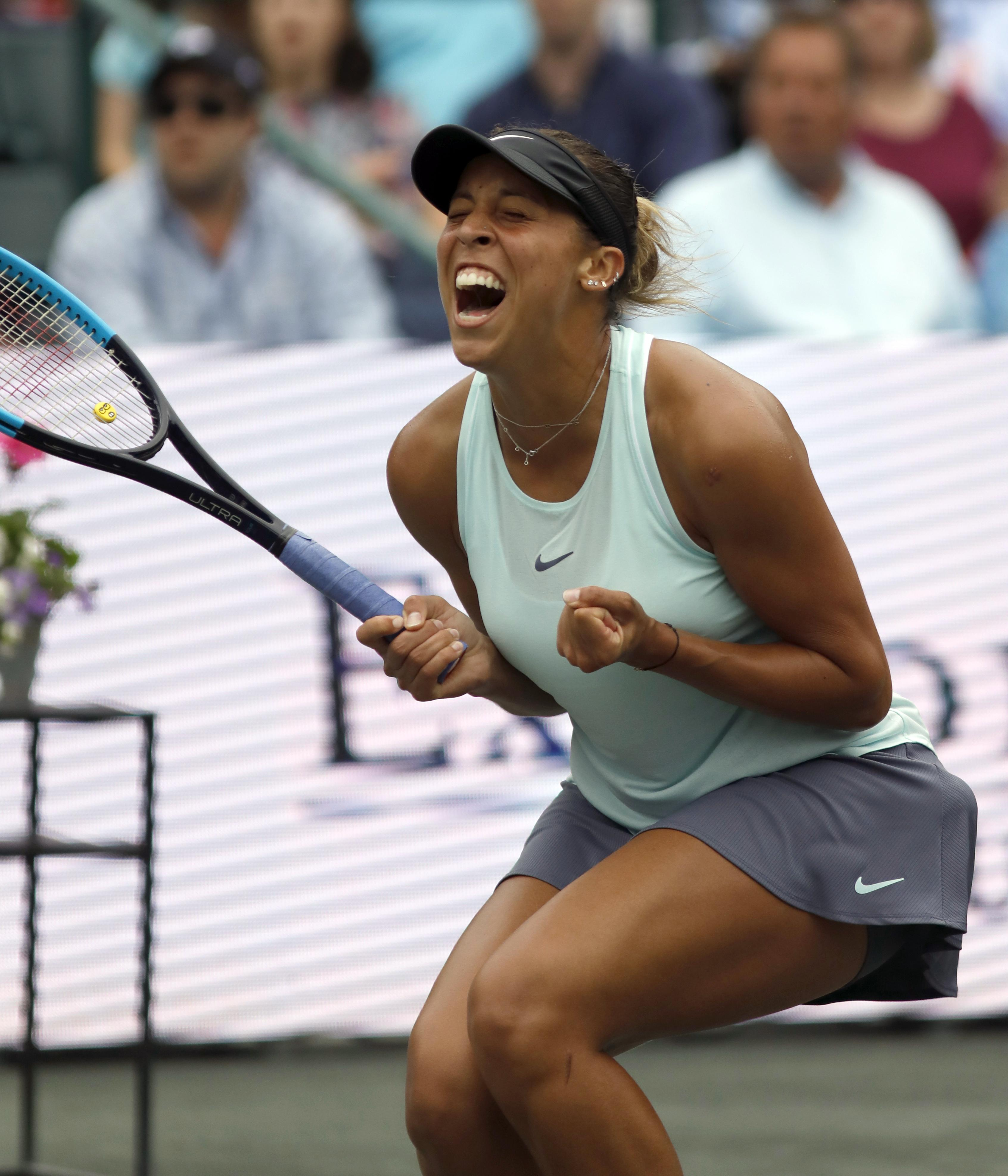 American Madison Keys Overpowers Caroline Wozniacki To Win Volvo Car Open The Spokesman Review
