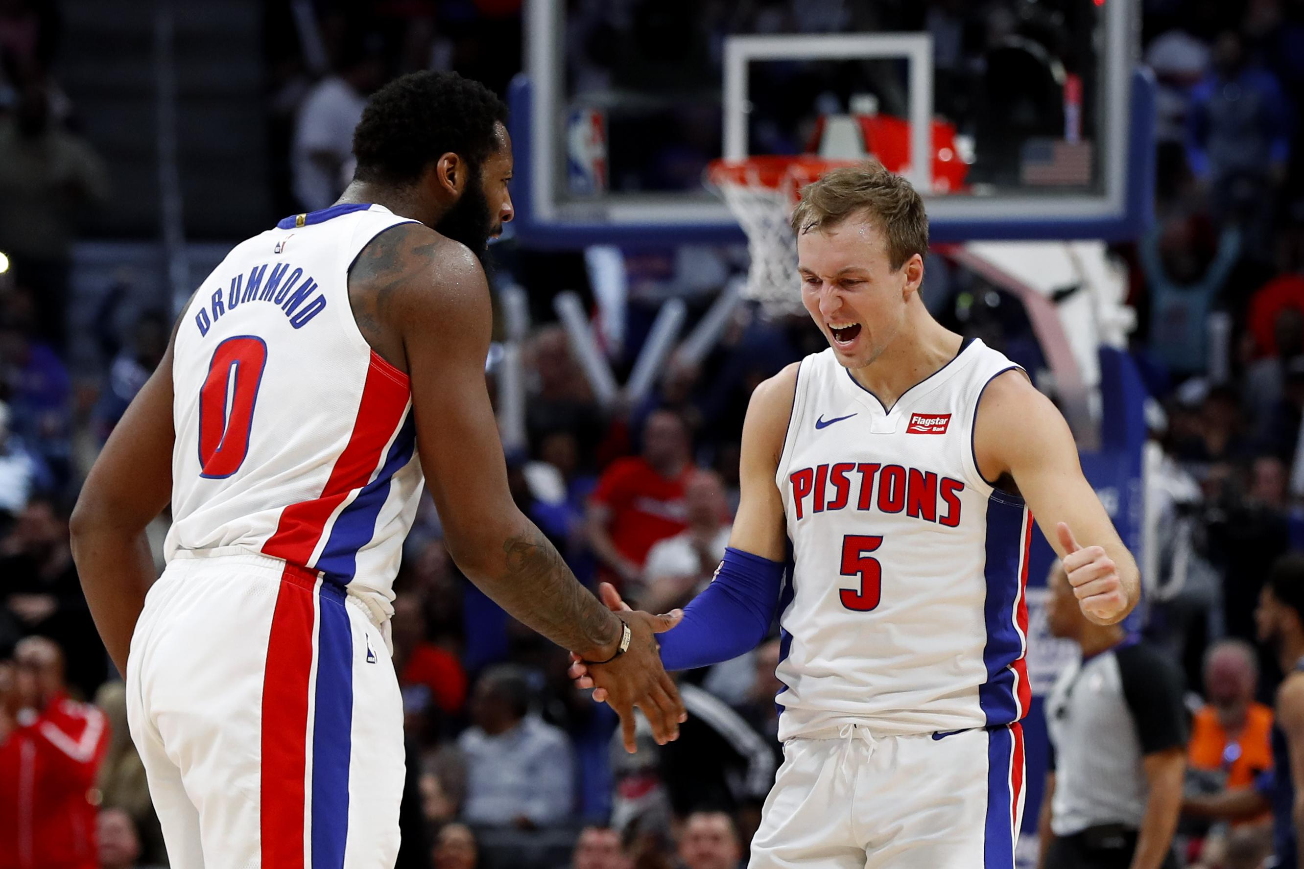 new styles 0555c efe7c NBA roundup: Pistons top Knicks 115-89, clinch final playoff ...