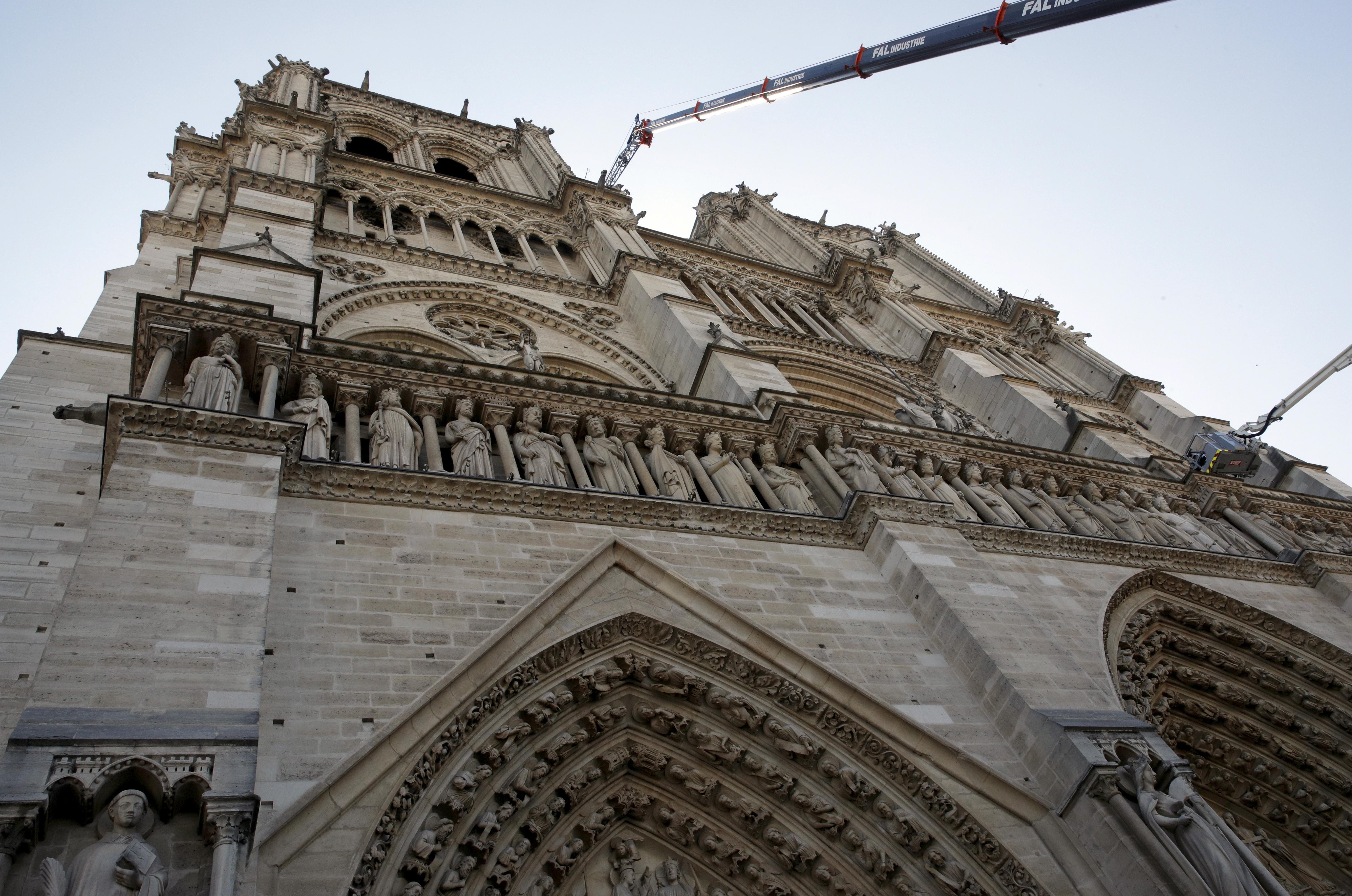 Fire Ravaged Notre Dame Now Stabilized Firefighters Leave The