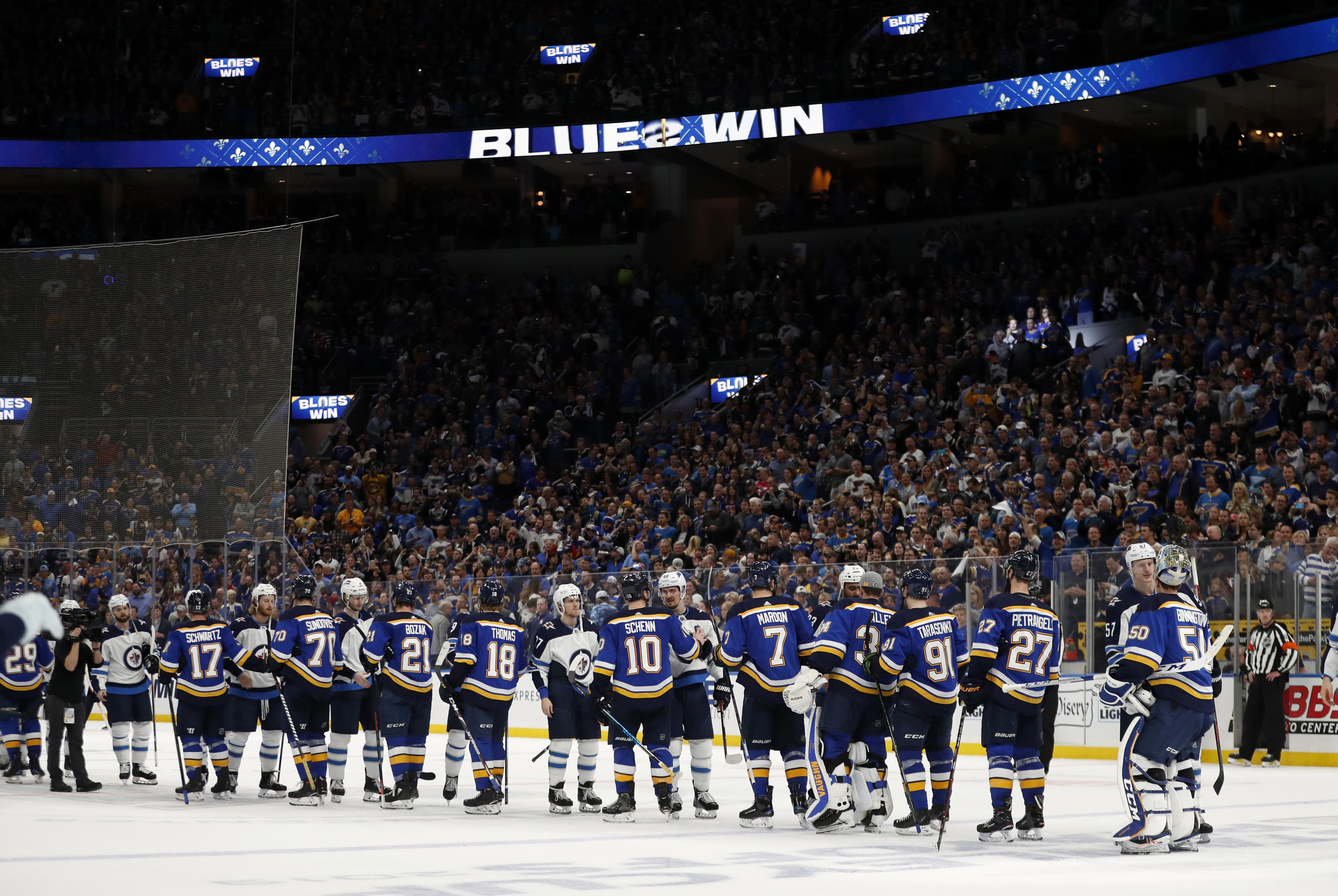 huge discount 116ad efe1a NHL roundup: Blues beat Jets 3-2 in Game 6 to advance to 2nd ...