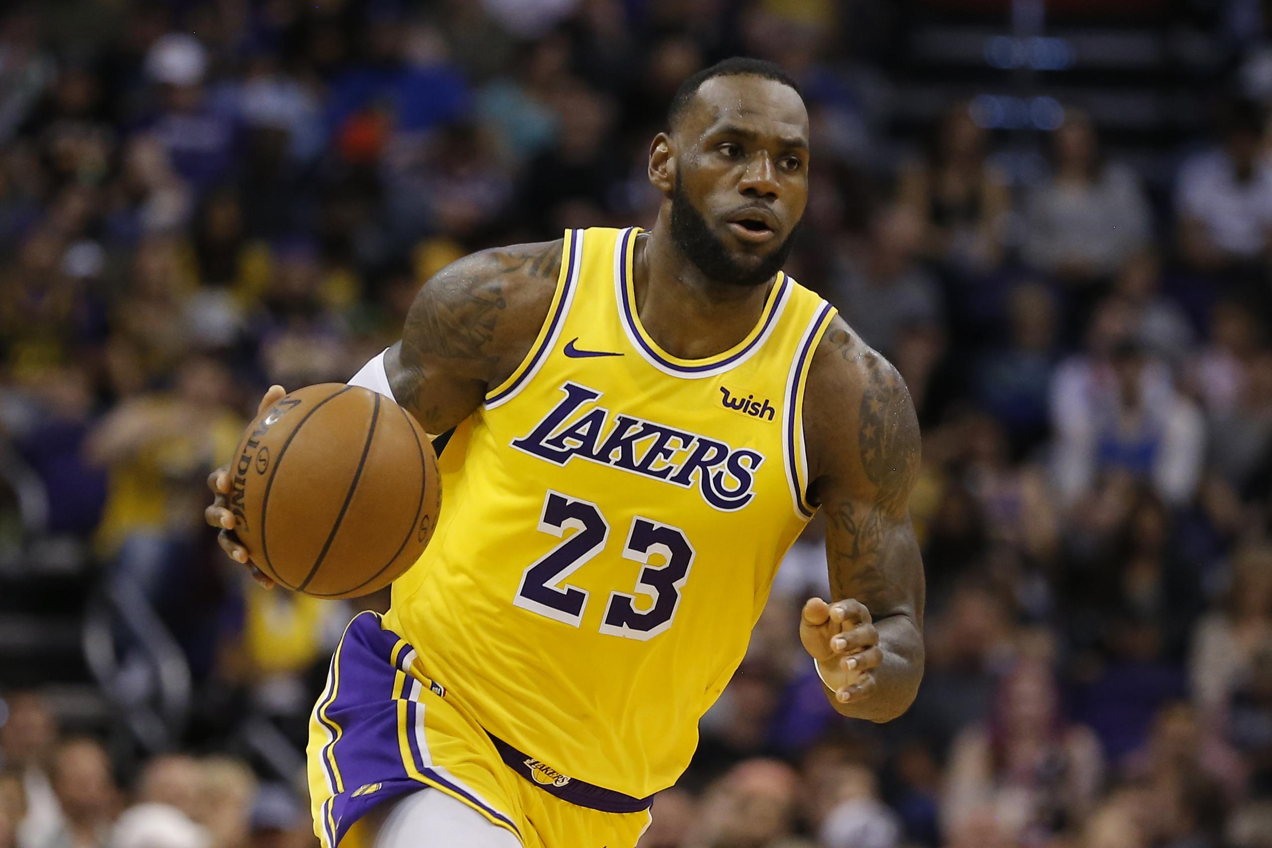 fa0ddda8 In this Saturday, March 2, 2019 photo, Los Angeles Lakers forward LeBron  James