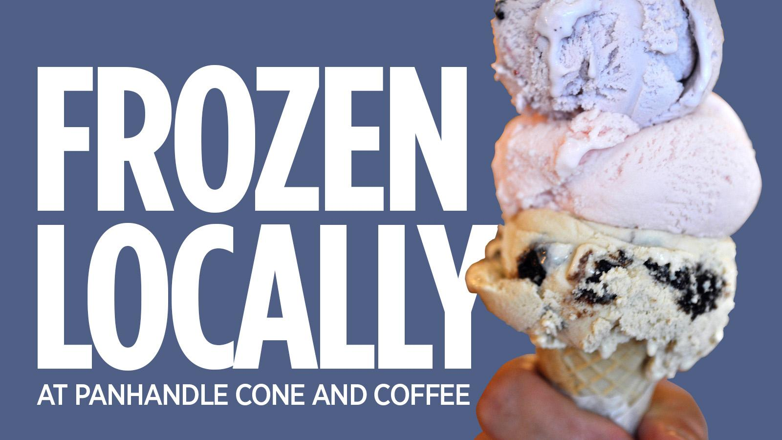 Frozen Locally Panhandle Cone And Coffee Preaches Quality Love