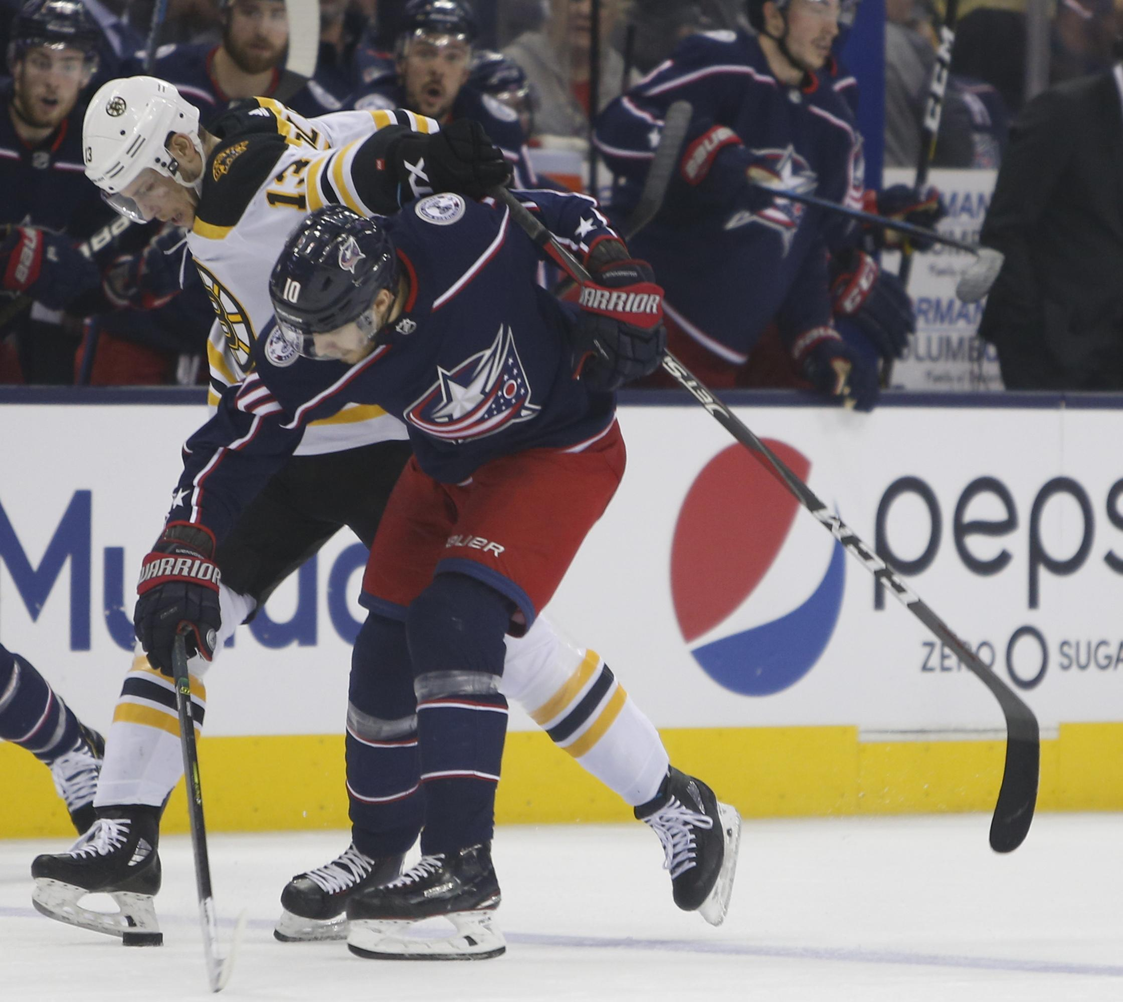 NHL Roundup: Bruins Beat Blue Jackets 3-0, Advance To