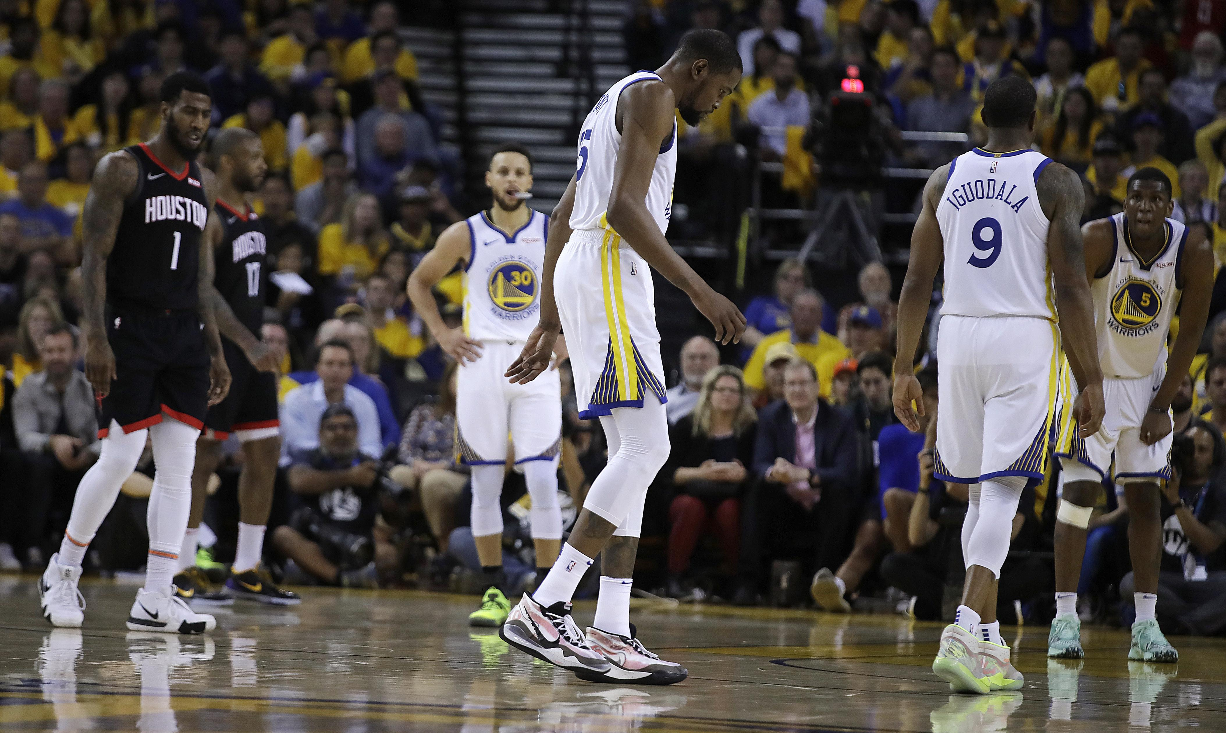 ef2cdcadf60c Warriors star Kevin Durant out for rest of West semifinals