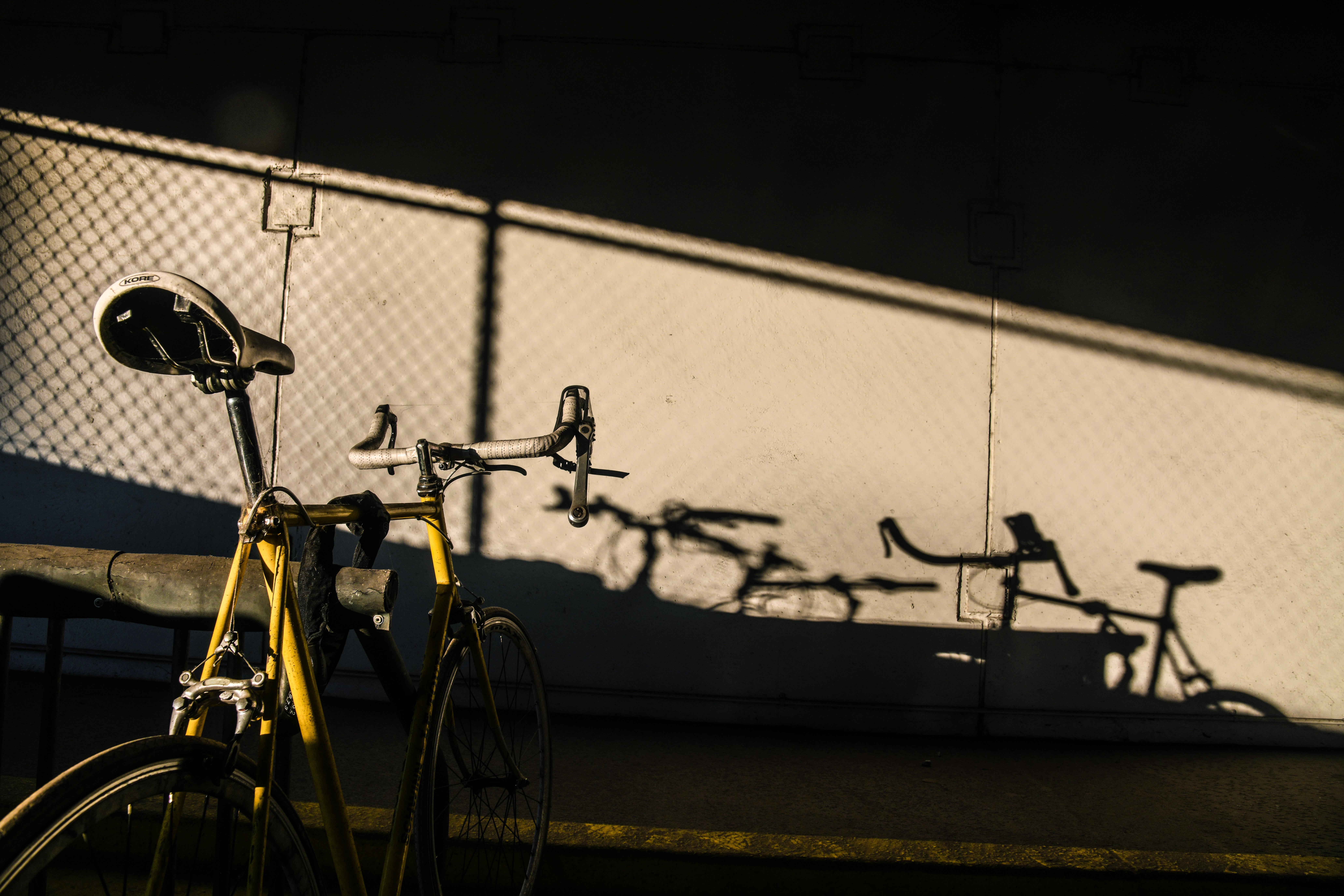 80b15bb029d A vintage Schwinn road bike catches the late afternoon sun in a parking  garage, Thursday
