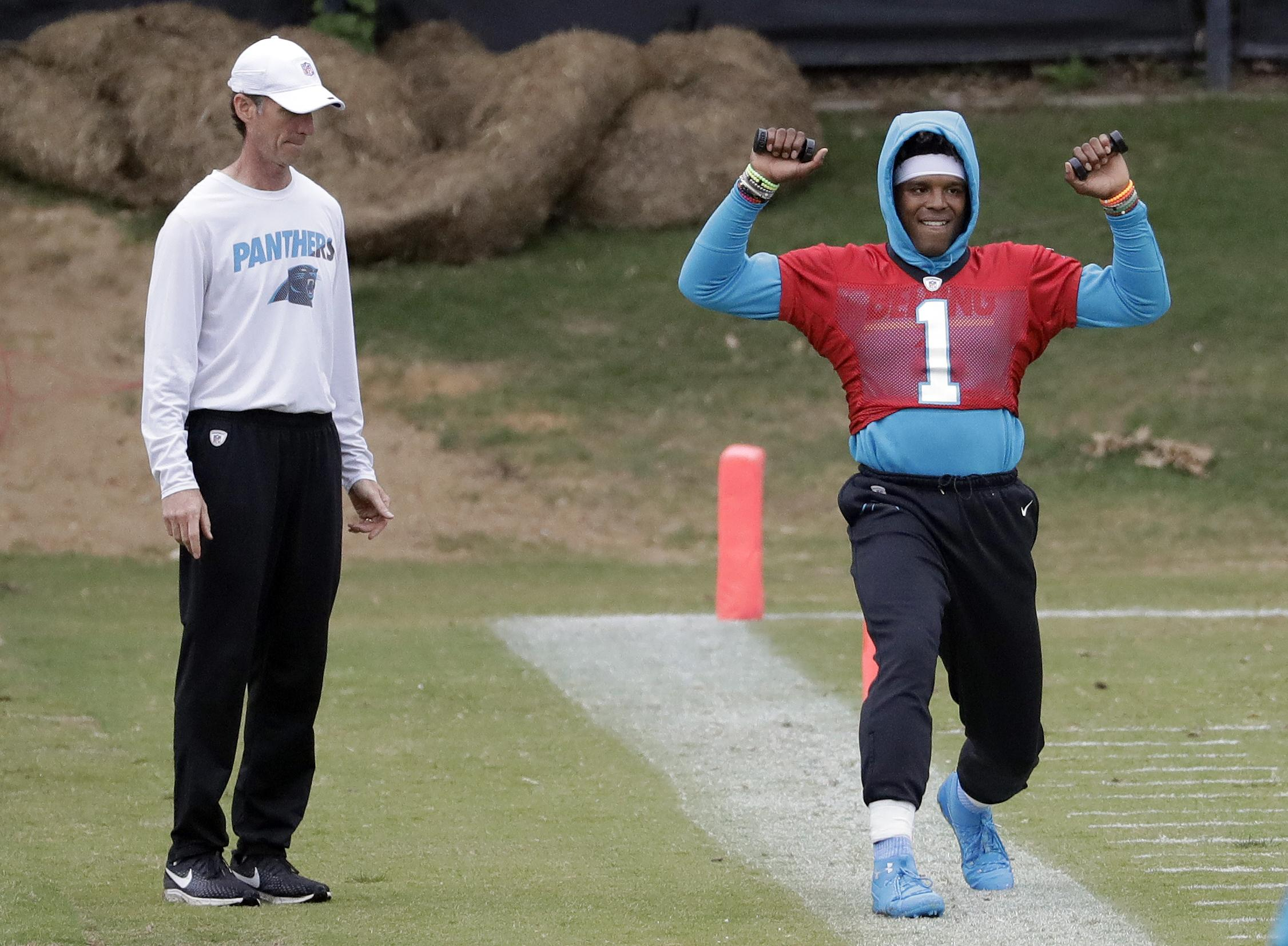 d2f61963 Panthers coach Ron Rivera: Not a big deal that Cam Newton isn't ...