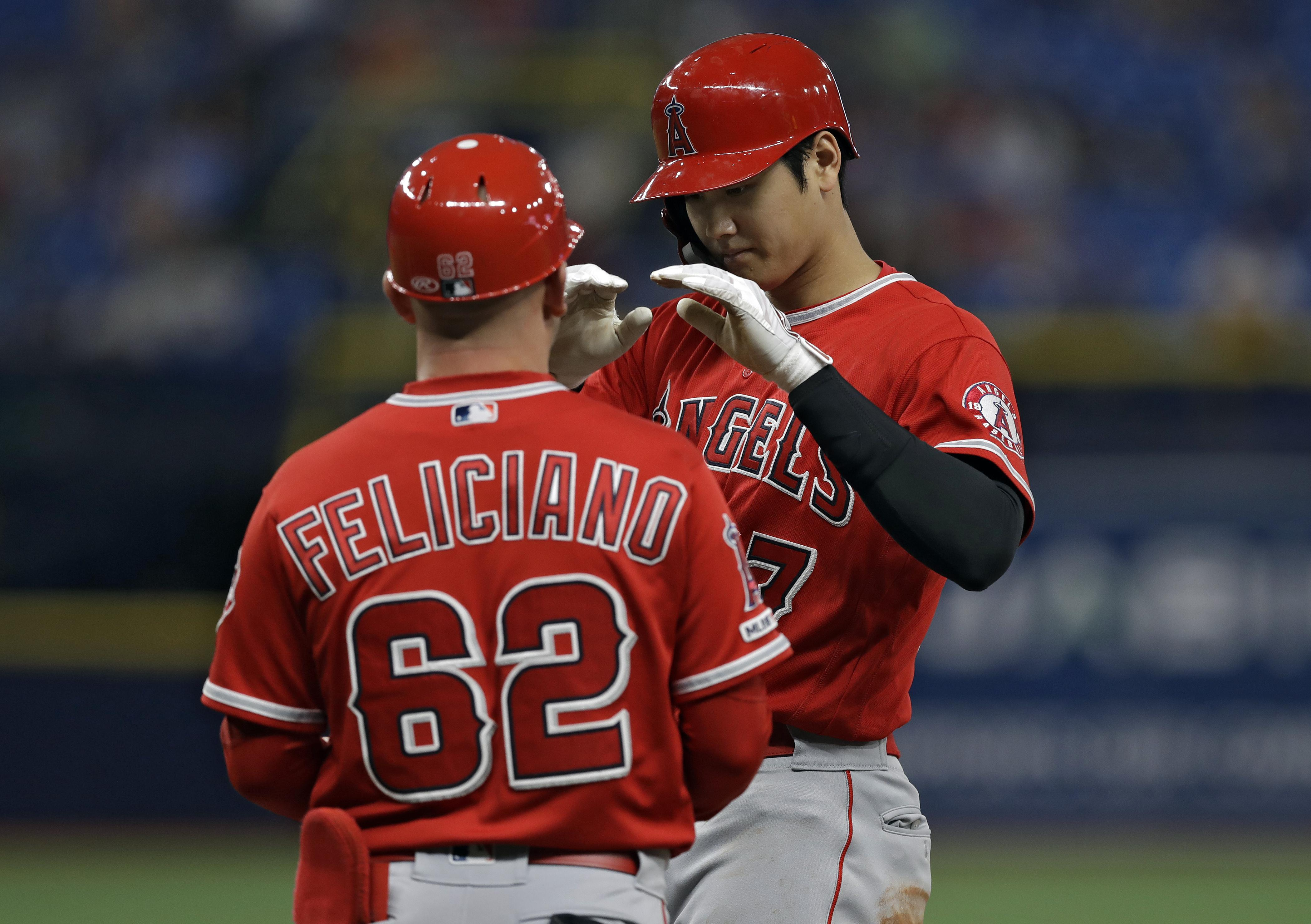 finest selection 66b7f 3e0f6 MLB roundup: Angels' Shohei Ohtani first Japanese player to ...