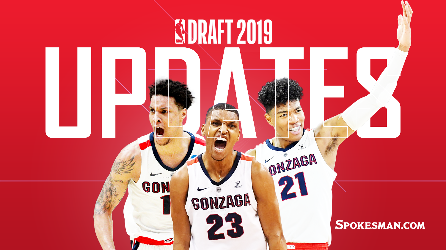 5bd197b3b906a0 NBA draft updates: History made as Rui Hachimura, Brandon Clarke give  Gonzaga two first-round picks; Zach Norvell Jr. goes undrafted