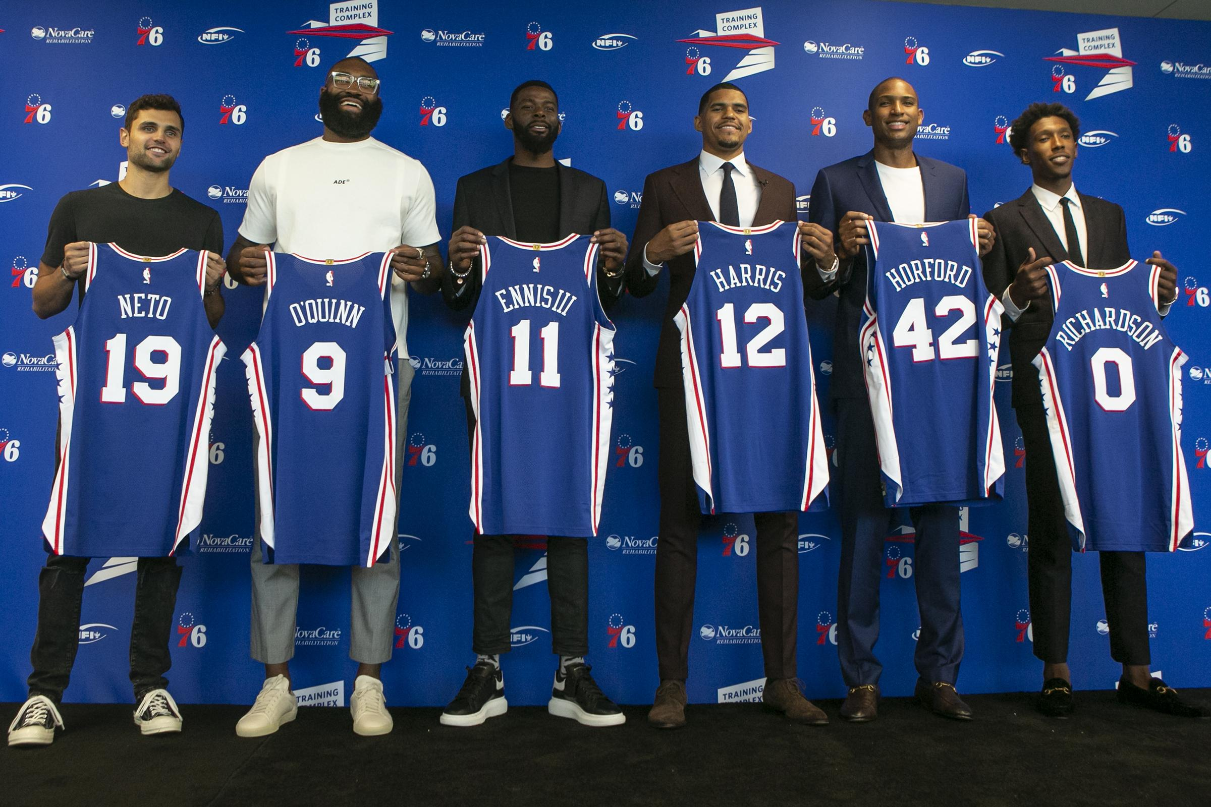 lowest price 9f564 65a2d 76ers unveil Al Horford & Co. as upgrades in championship ...