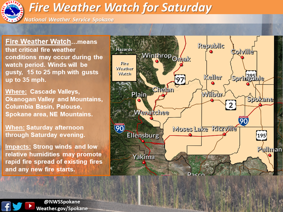 Graham Wa Weather >> Hazardous Fire Conditions Arrive Saturday With Winds Dry Air