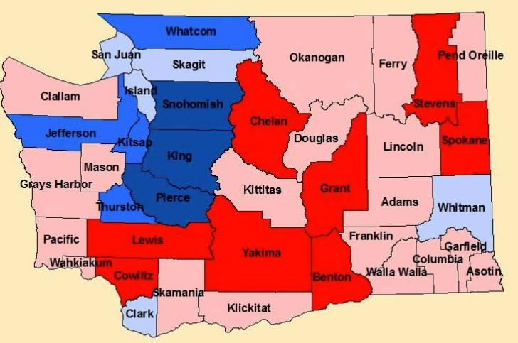 Washington State Political Map Paul Turner: It may be hard to explain to your cousin that