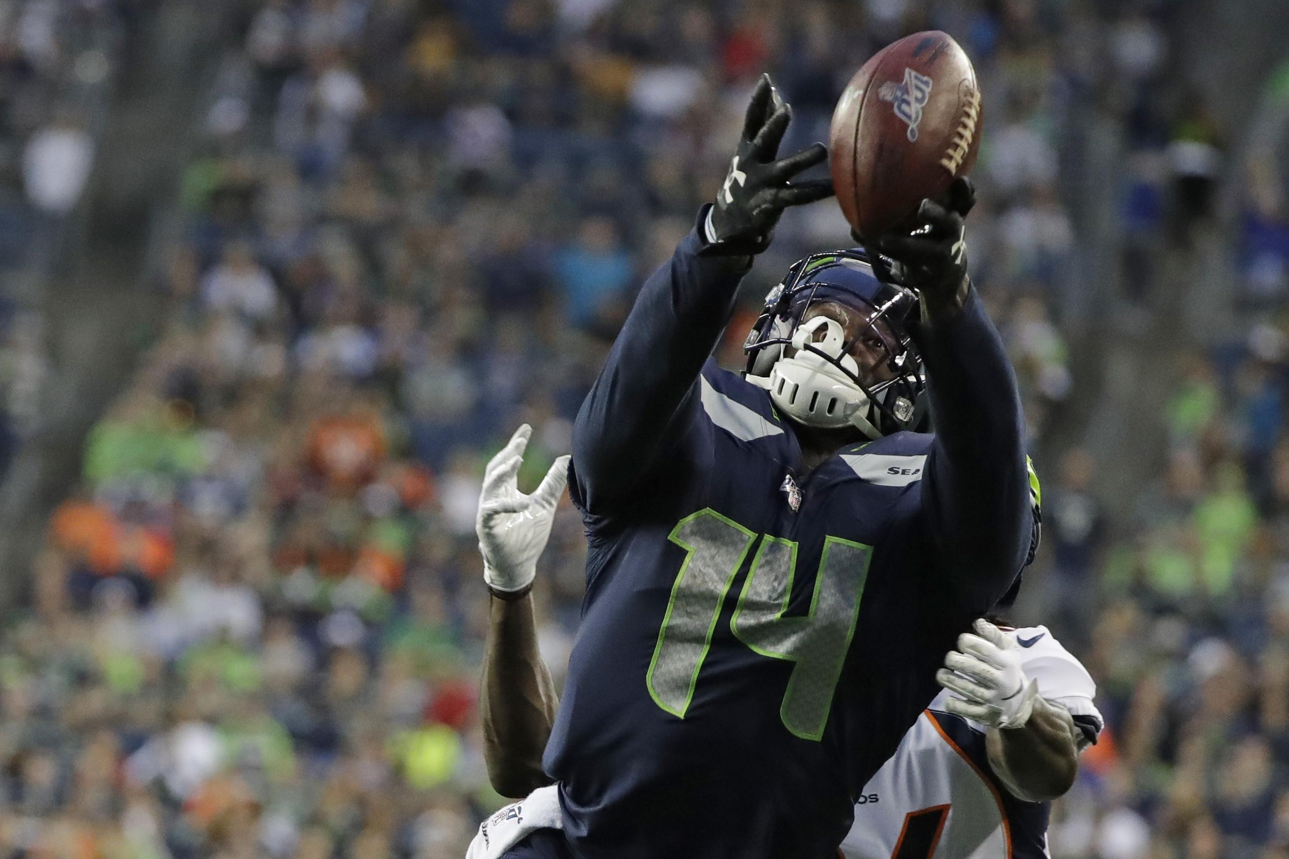 Larry Stone: Quiet night from Seahawks rookie DK Metcalf ...