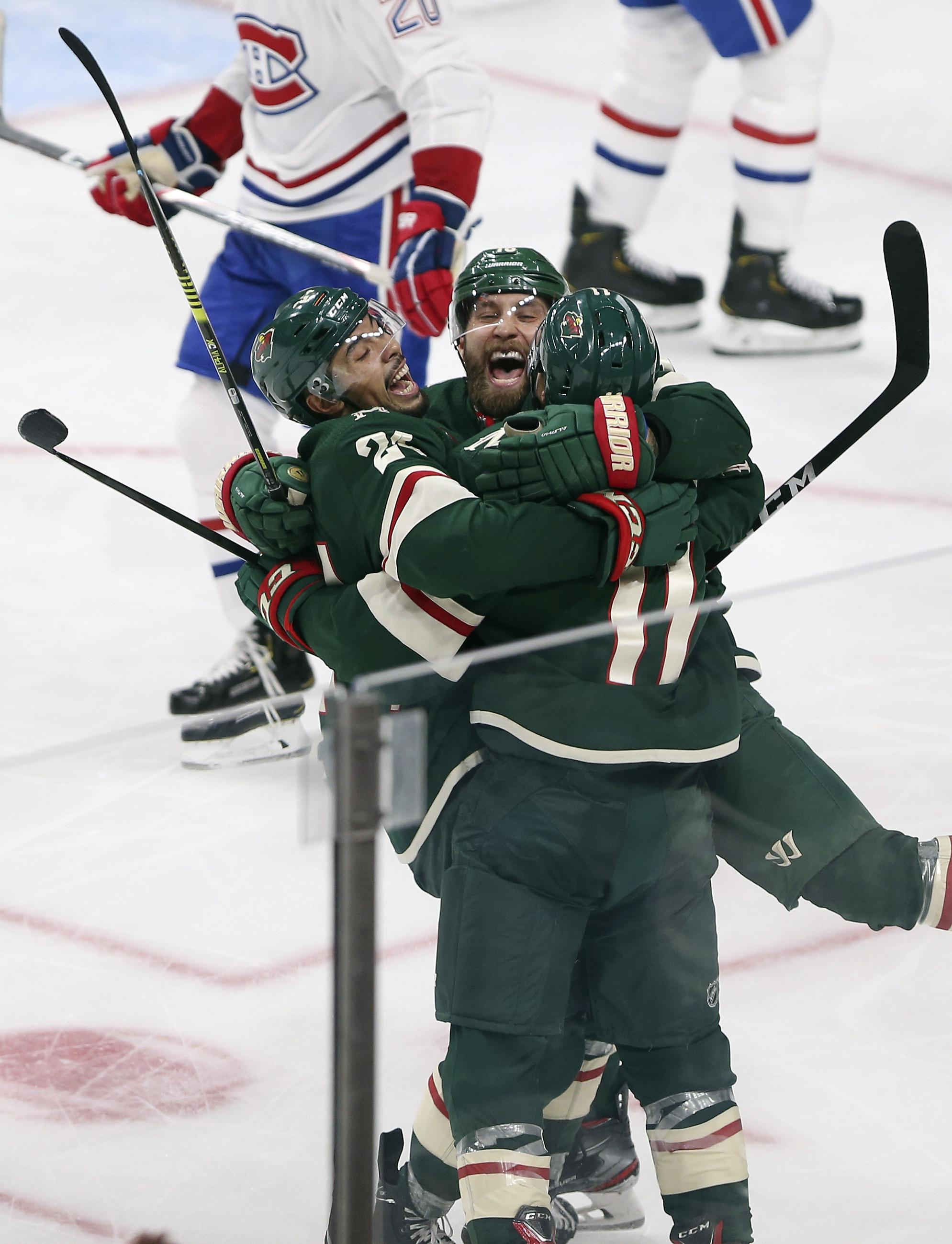 Nhl Roundup Wild Win For 2nd Time This Season Beat Canadiens 4 3