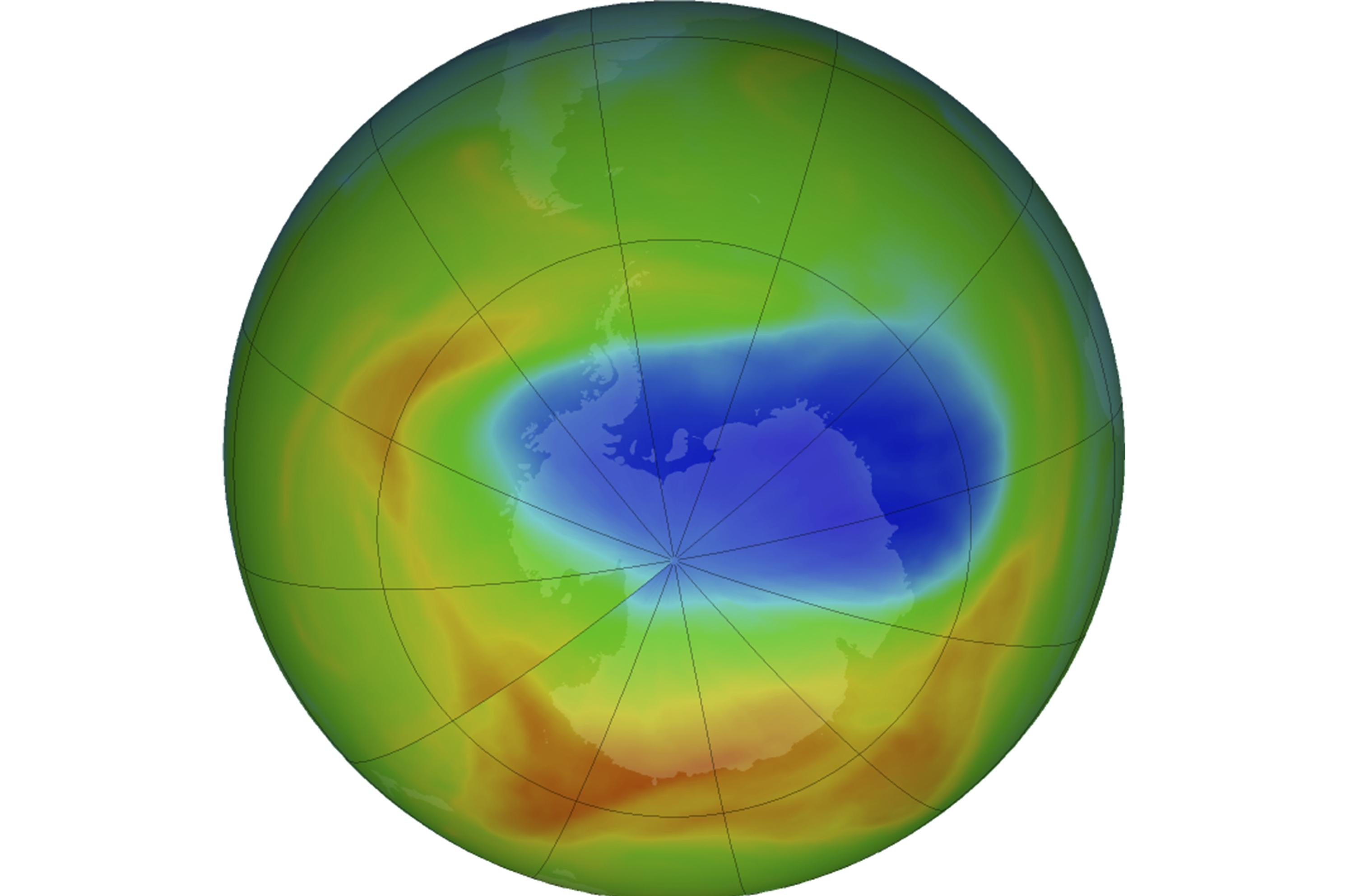 Ozone hole was the smallest this year that it has ever been