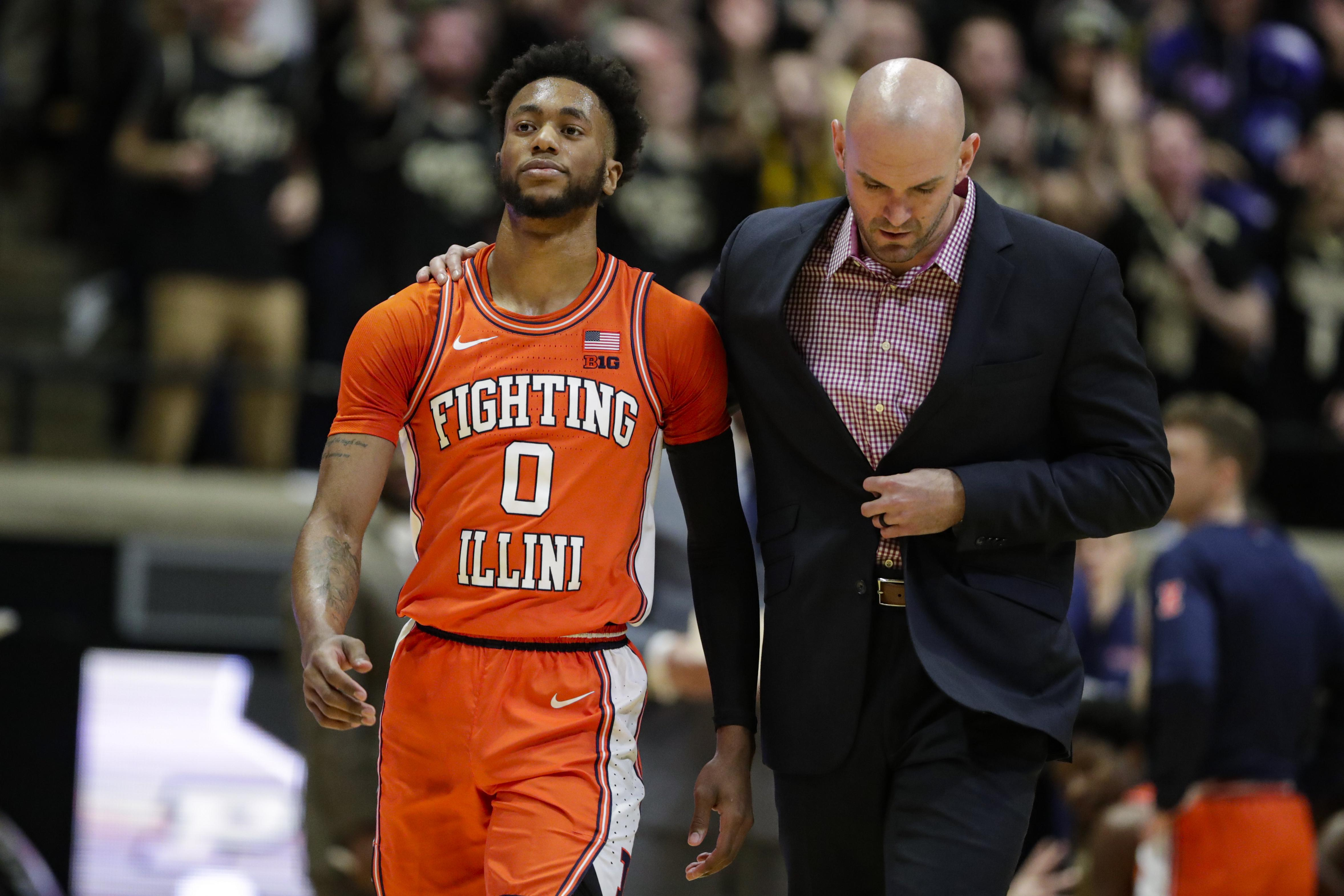 Illinois' Griffin suspended 2 games for stepping on Purdue player