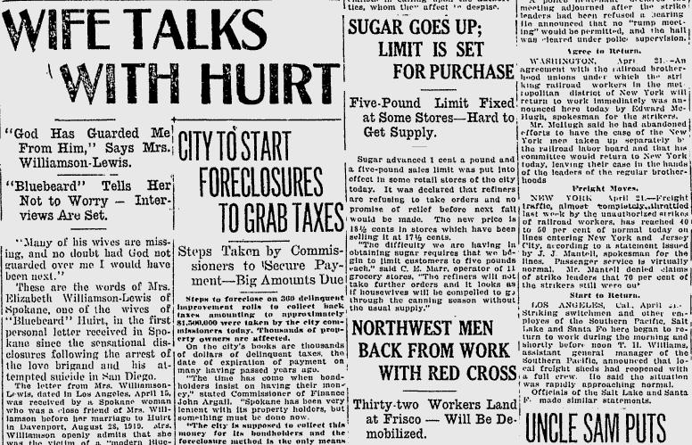 100 Years Ago In Spokane One Wife Of Suspected Serial Killer