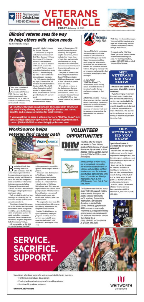 Veterans Chronicle 2019-02-15