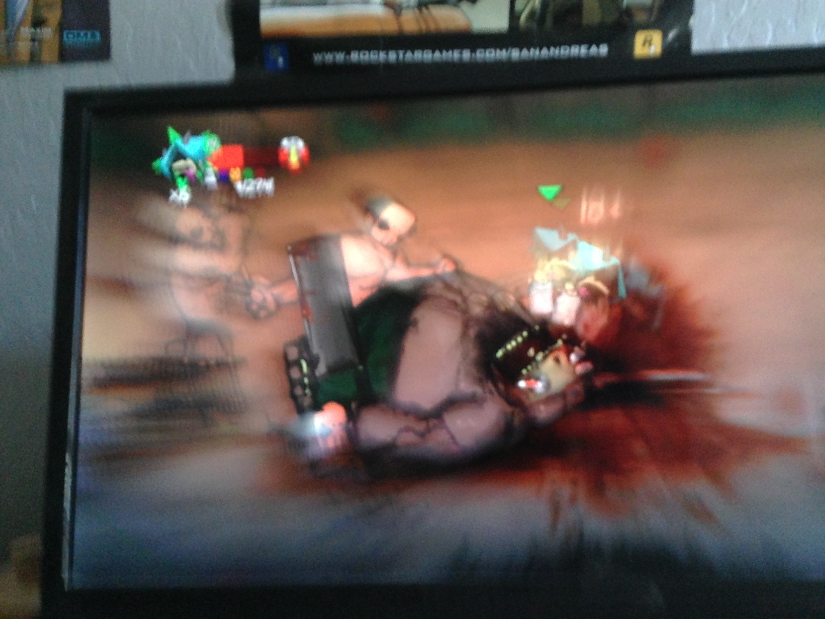 violent scene of video game violence