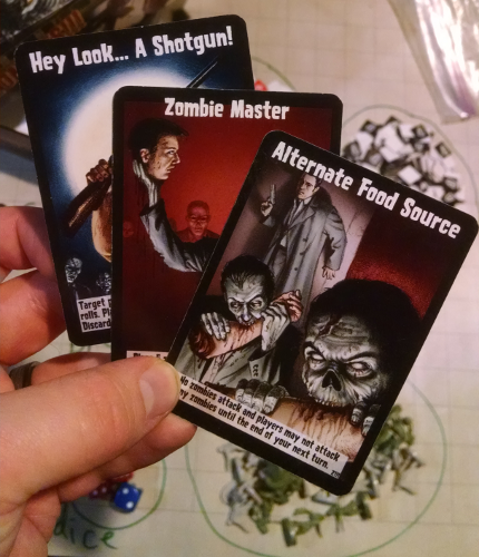 Close up of the cards