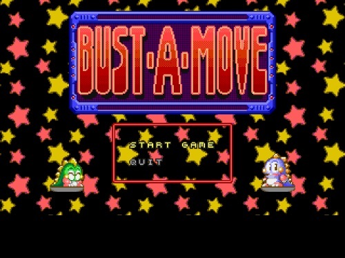 Title screen of 1994's Bust a Move game
