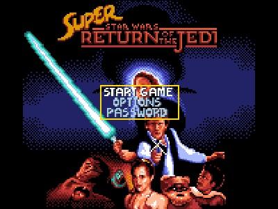 Super Star Wars: Return of the Jedi title screen