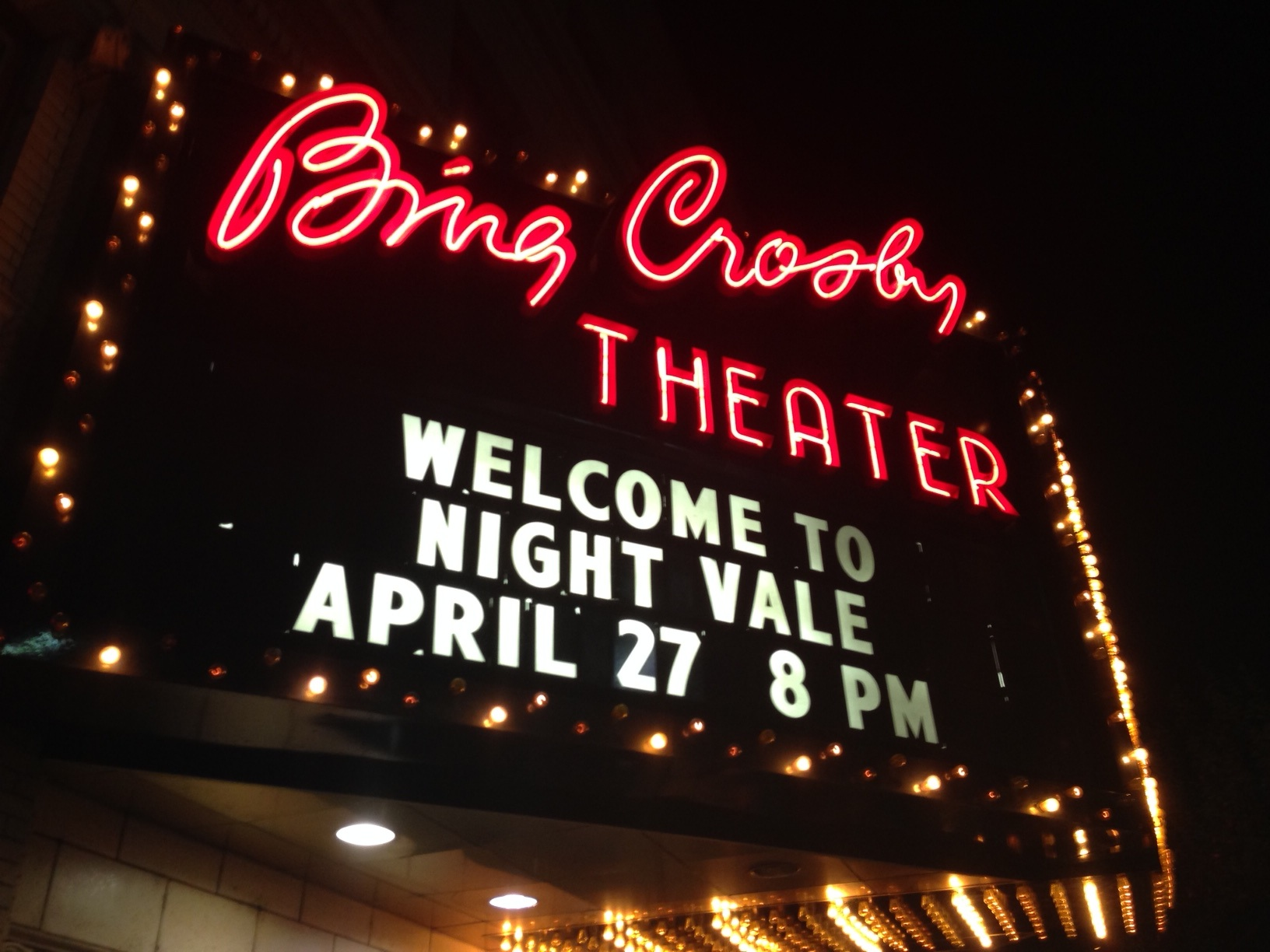 The Bing marquee